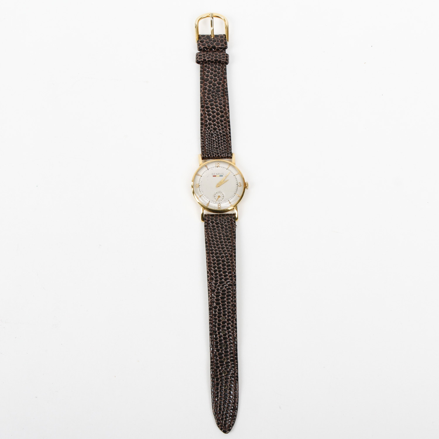 Vintage Benrus 18K Gold Wristwatch