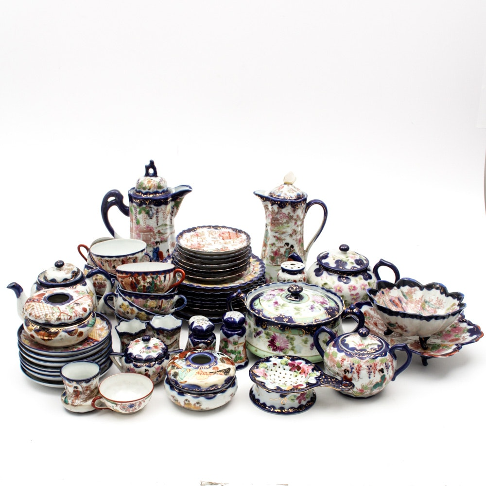 Generous Collection of Japanese Porcelain Tableware