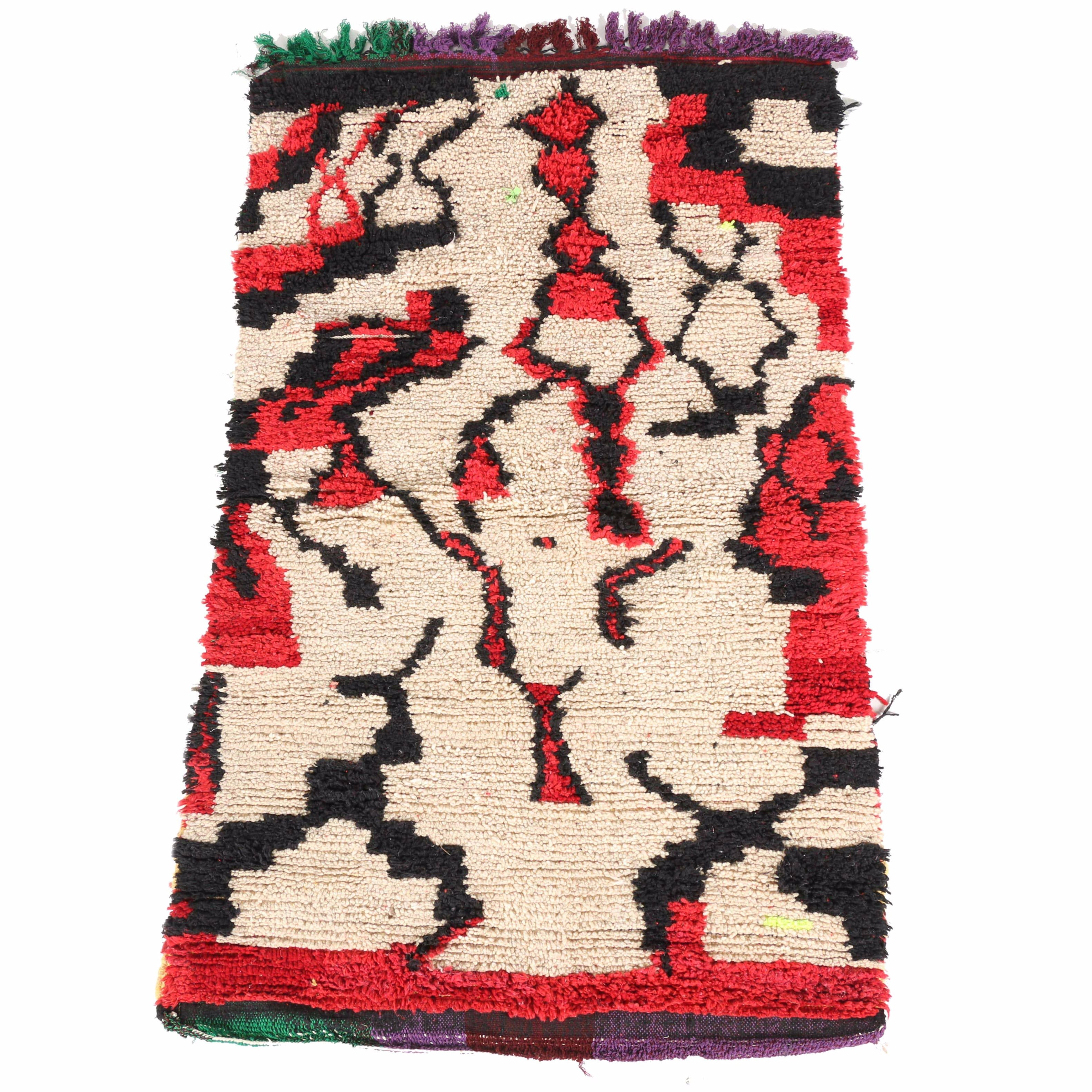 Hand-Knotted Moroccan Berber Area Rug