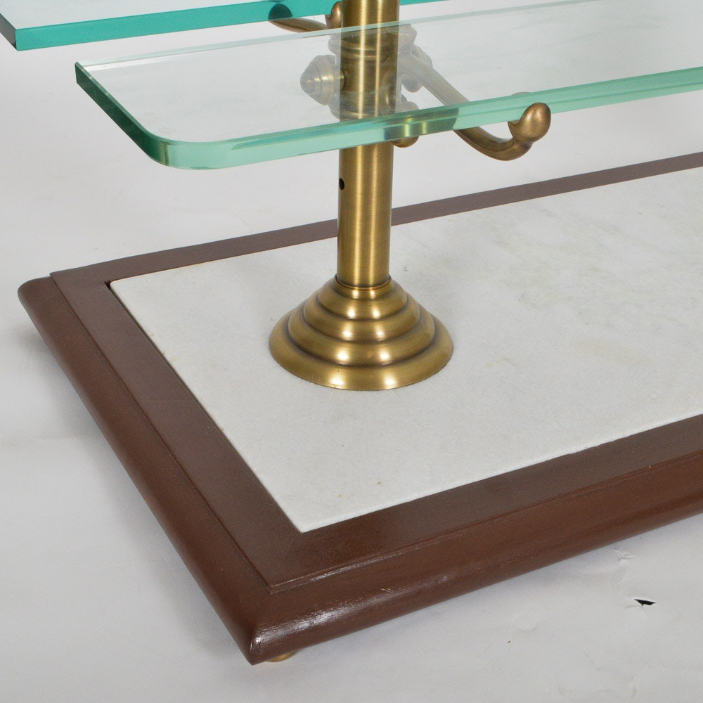 Brass and Glass Patisserie Serving Stand EBTH