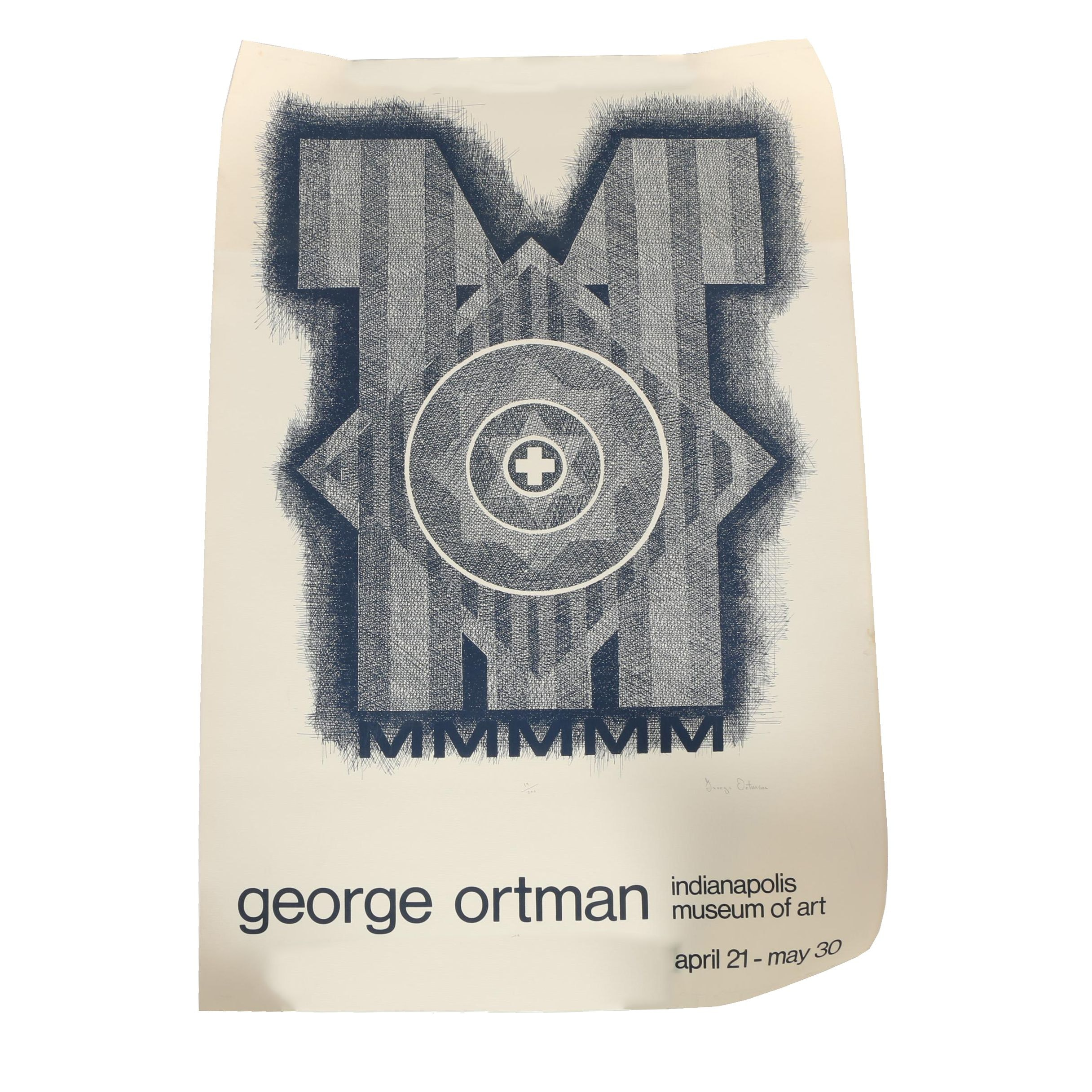 Signed Serigraph Exhibition Poster after George Ortman