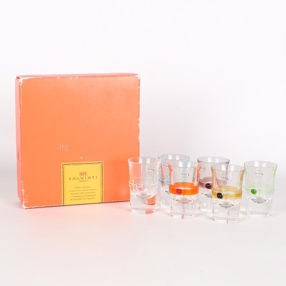 Set of Salviati Venezia Shot Glasses
