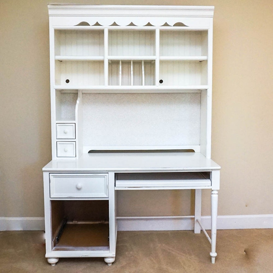 White Desk And Hutch By Stanley Furniture
