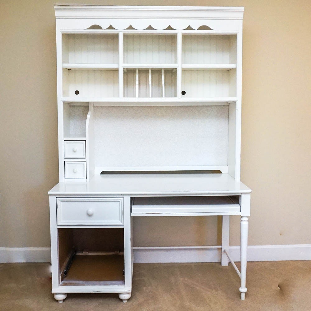 White Desk And Hutch By Stanley Furniture ...