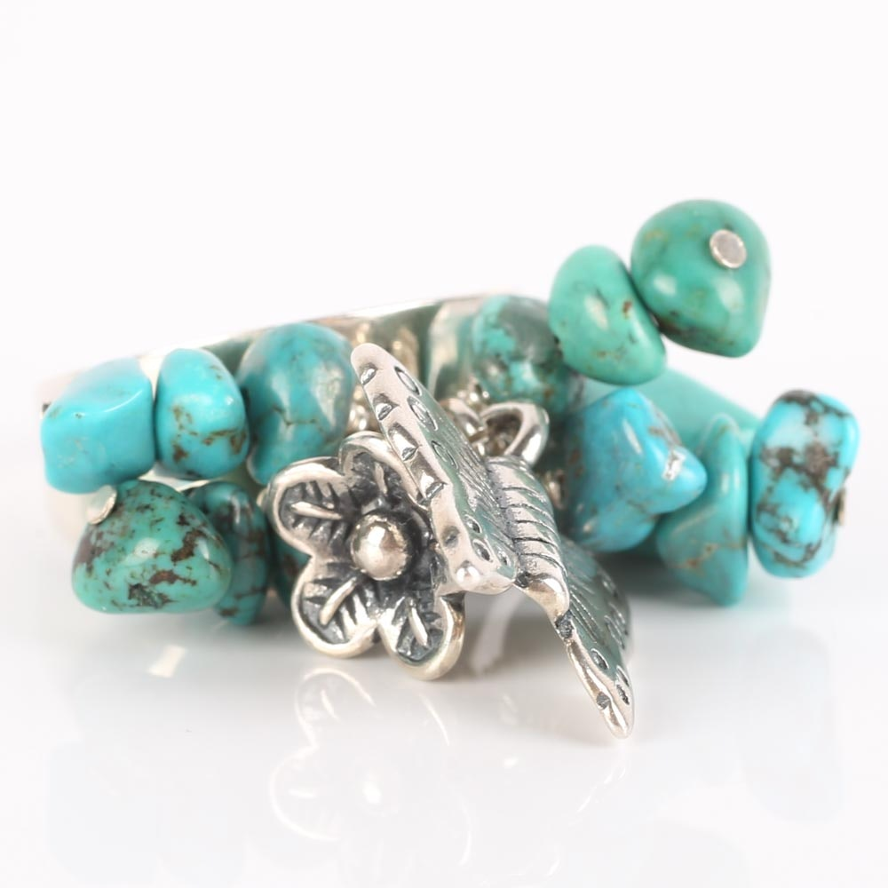 Sterling Silver and Turquoise Dangle Ring