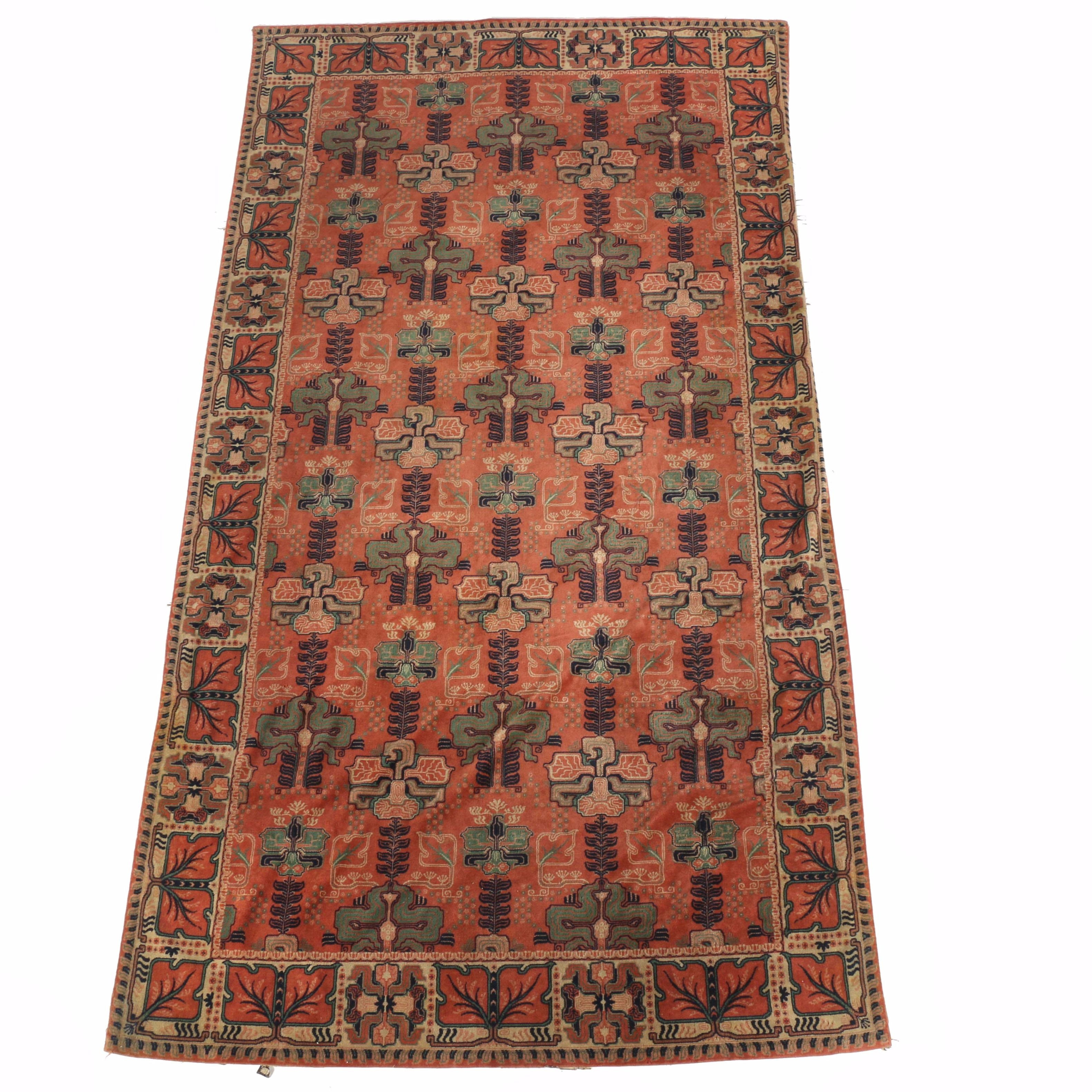 Semi-Antique Arts and Crafts-Style Persian Area Rug