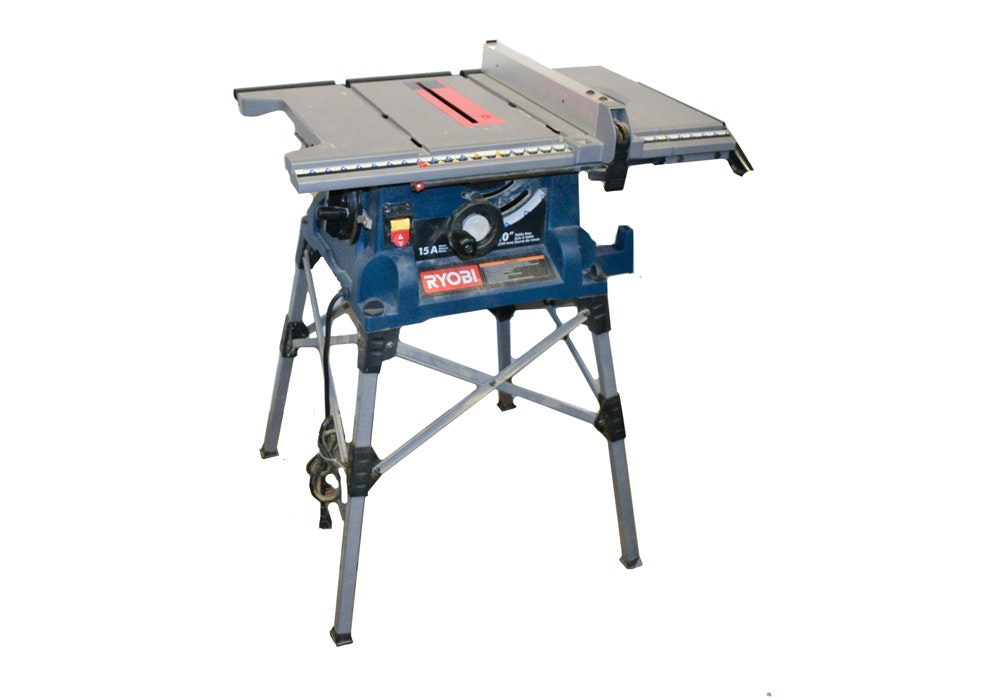 Ryobi Rts21 10 Quot Portable Table Saw With Quickstand Ebth
