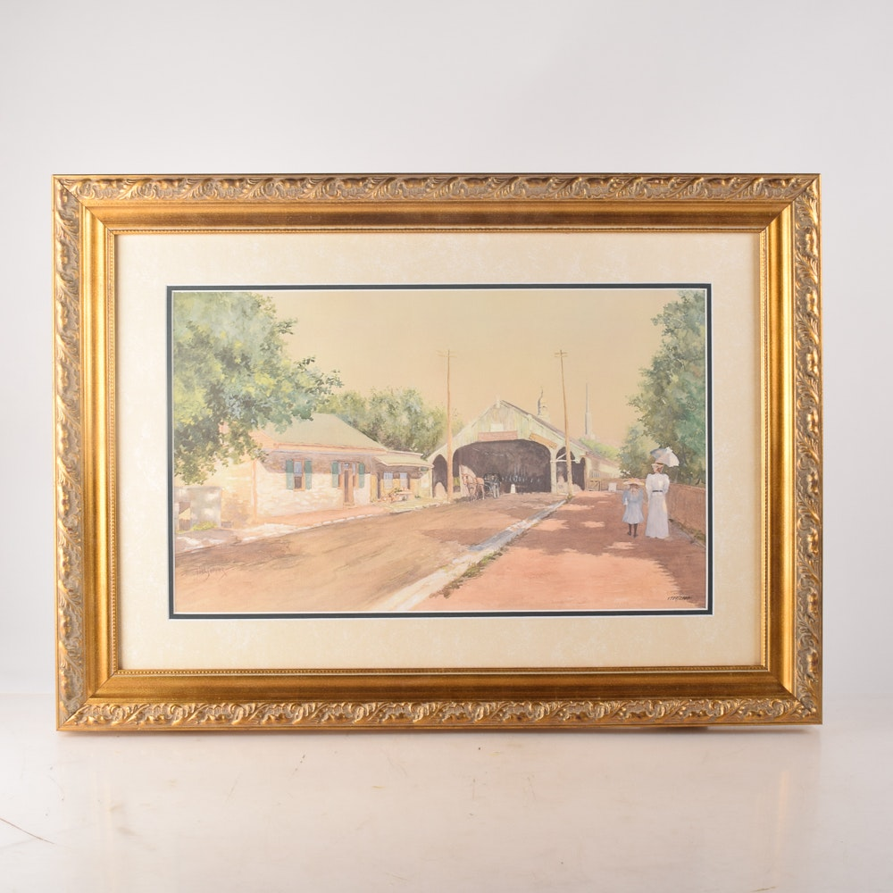 """After Paul Sawyier Limited Edition Offset Lithograph """"Days Gone By"""""""