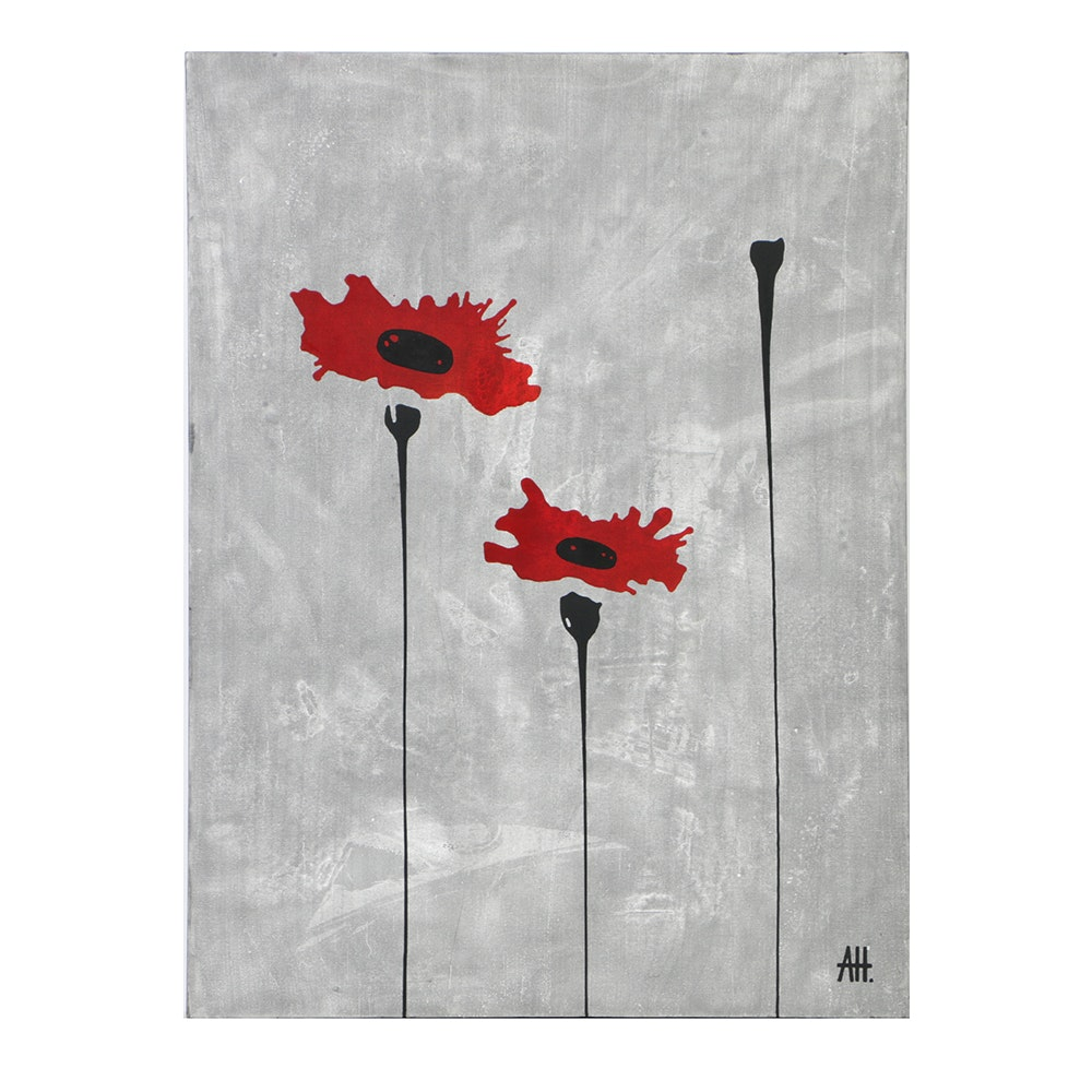 "Anson Holzer Acrylic Painting on Canvas ""Field VIII"""