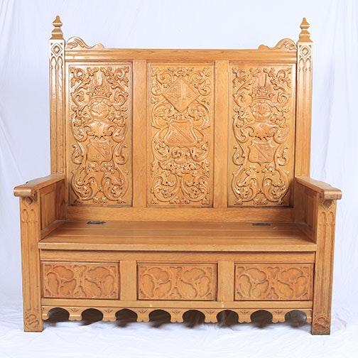 Vintage Ornate Entry Bench