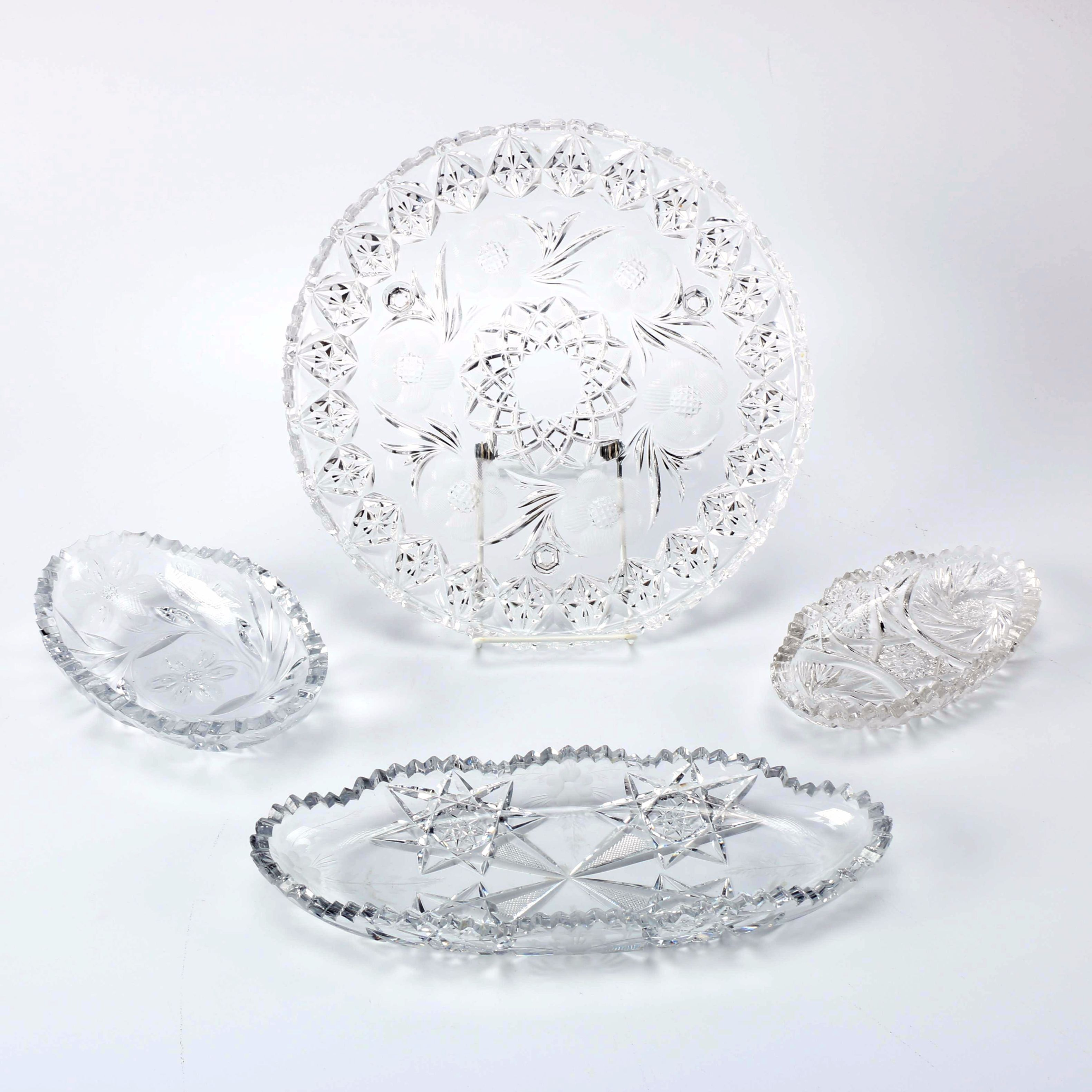 Collection of Crystal and Brilliant Cut Serving Ware