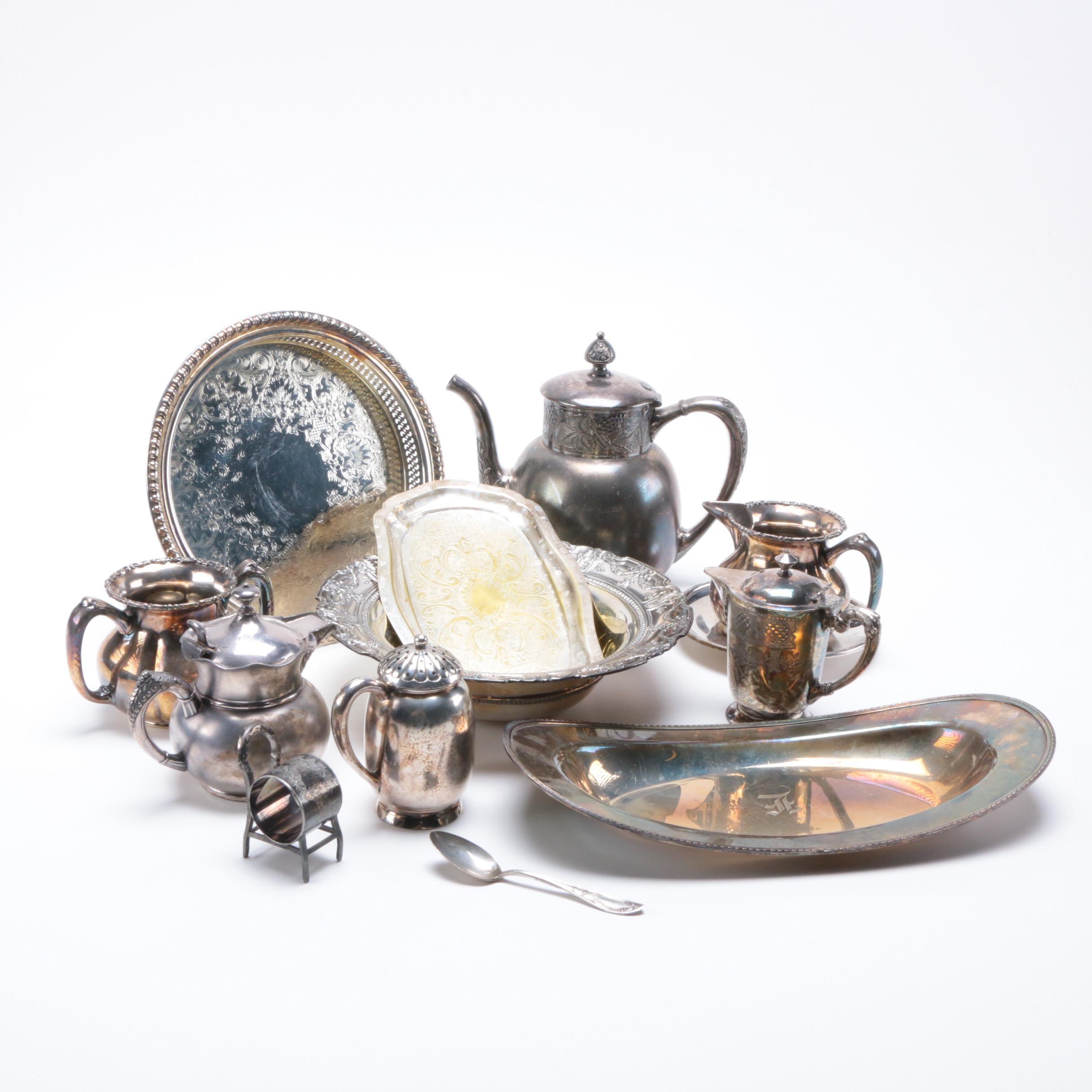 Assortment of Metal Serving Pieces