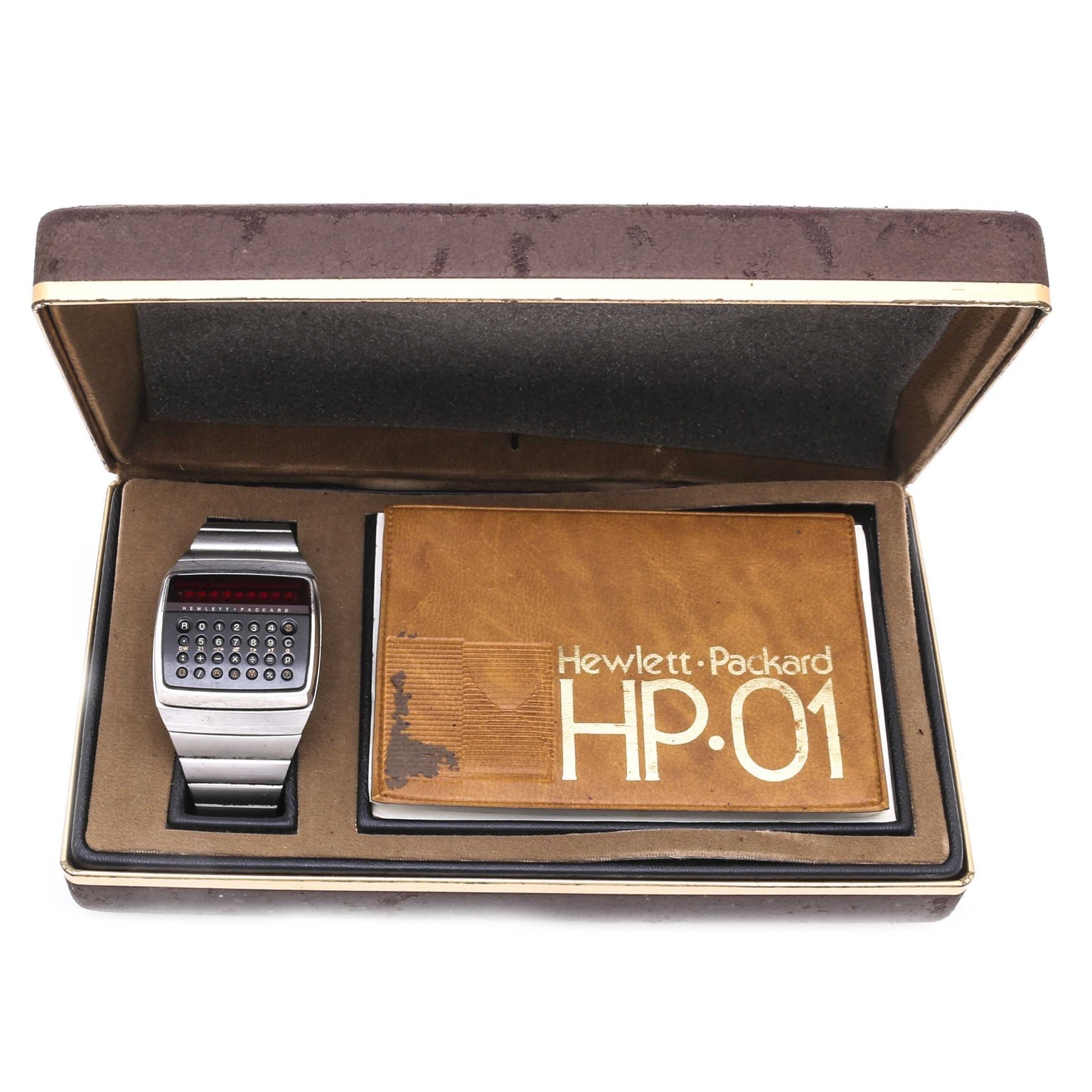 Vintage Hewlett Packard HP-01 Stainless Steel Digital Electronic Wristwatch