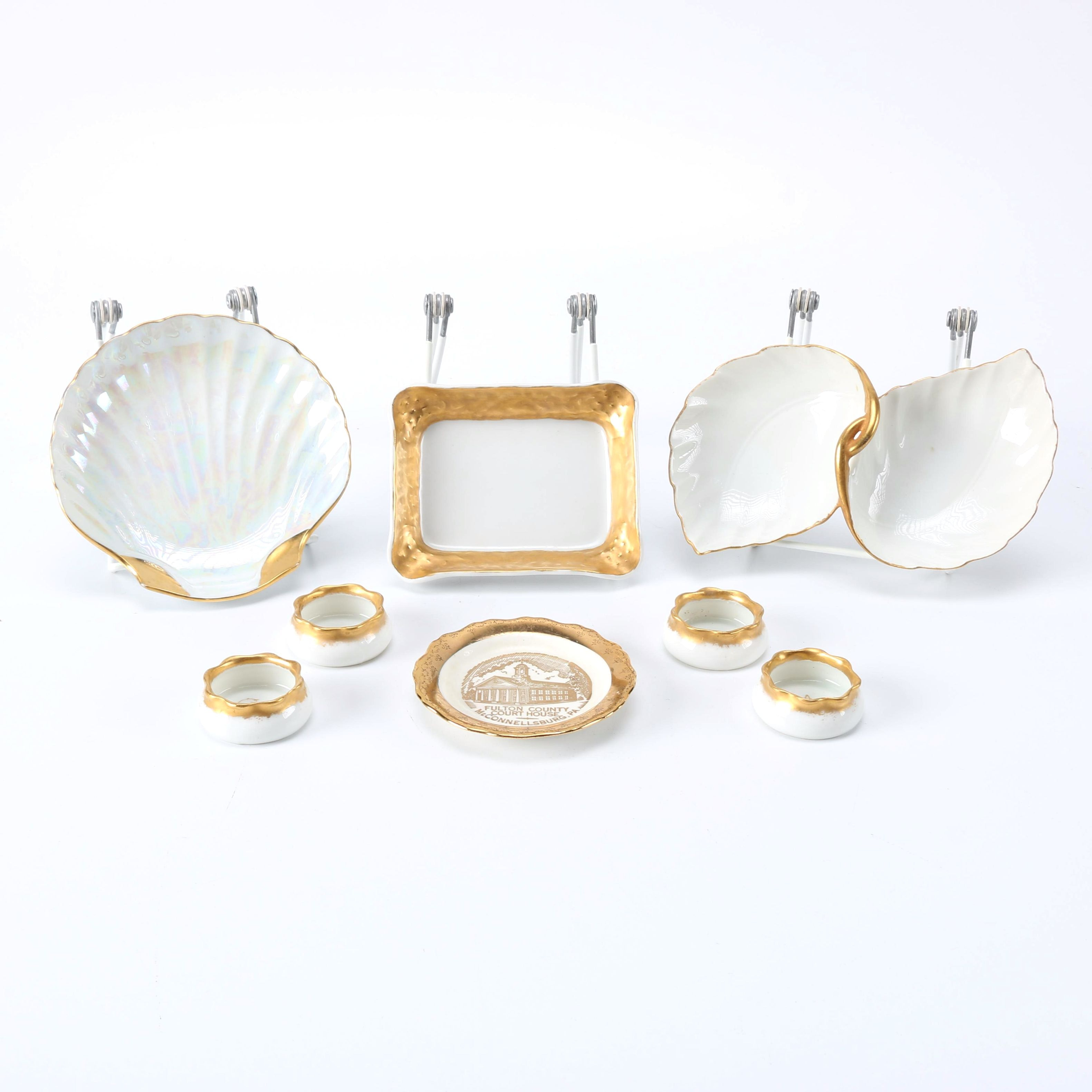 Gold and White Tableware