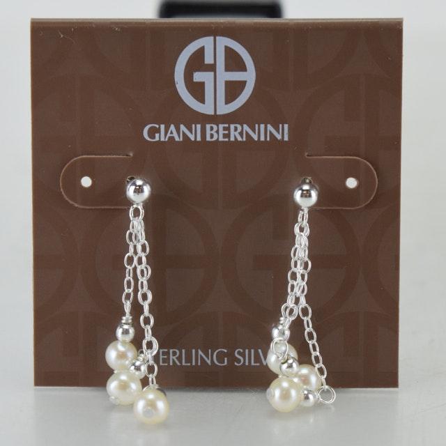 Sterling Silver and Freshwater Pearl Giani Bernini Earrings