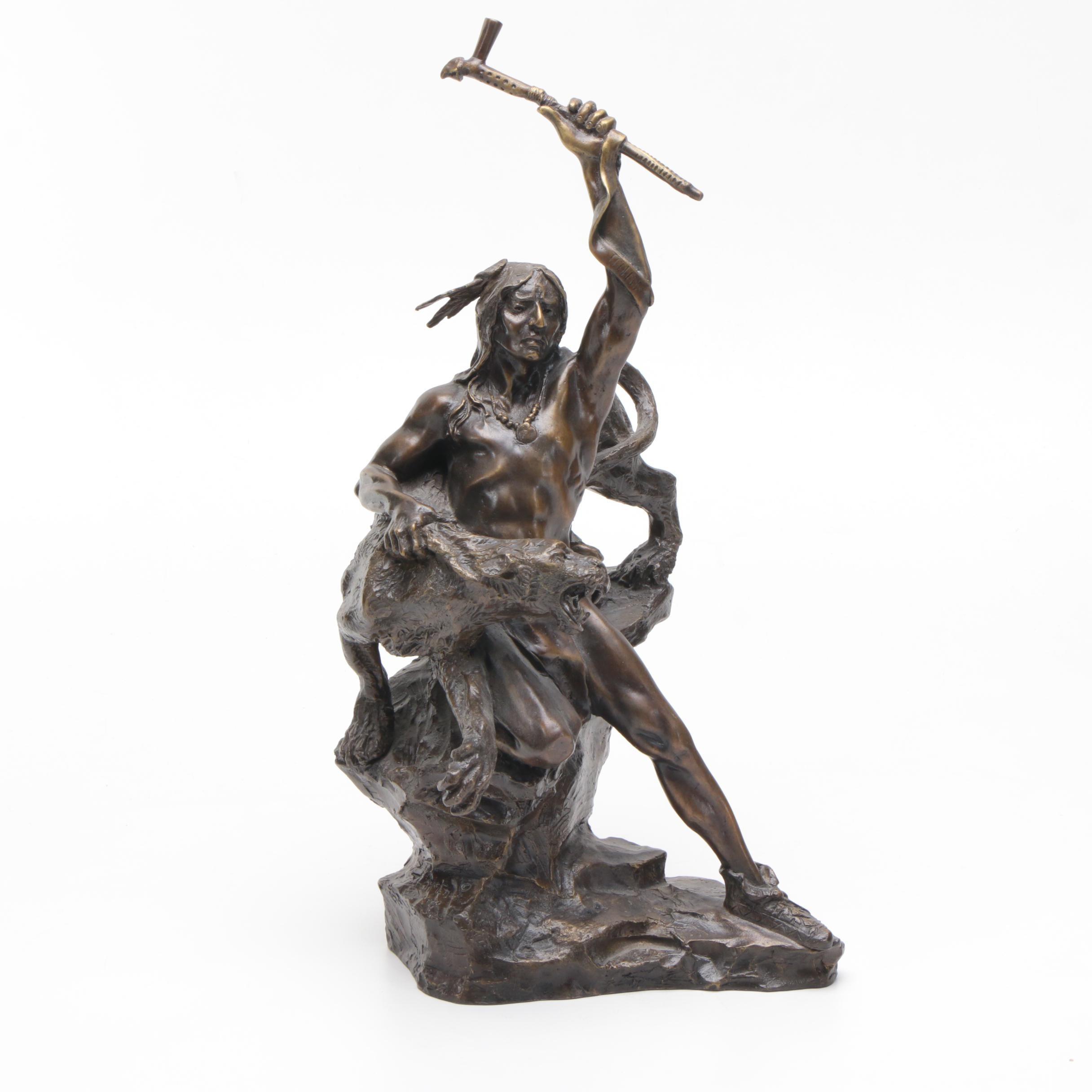 Reproduction Bronze Sculpture After Buck McCain
