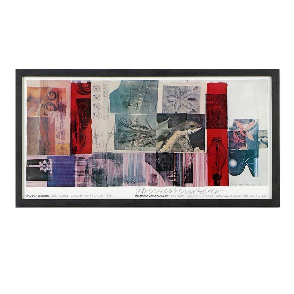 Robert Rauschenberg Offset Lithograph Exhibition Poster for Richard Gray Gallery