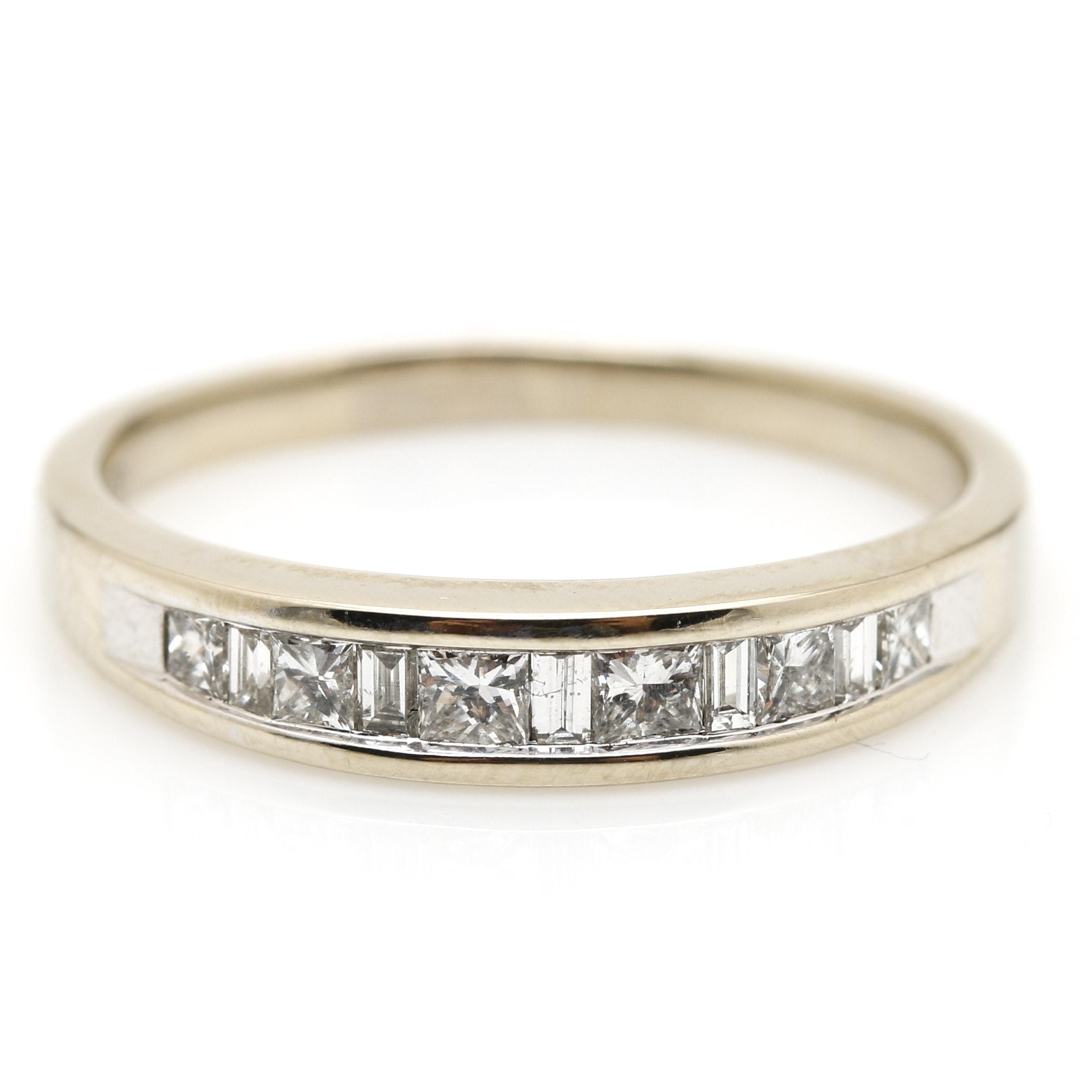 14K White Gold 0.62 CTW Diamond Band