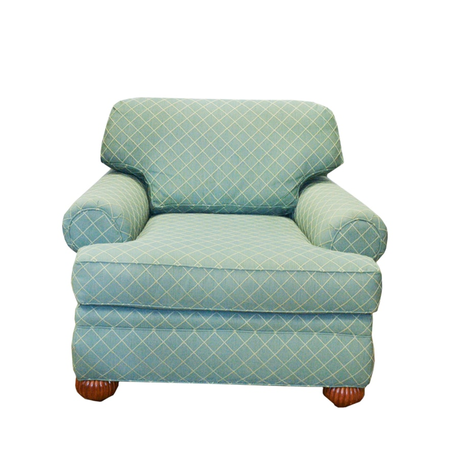 Pearson Oxford Court Green Diamond Patterned Armchair EBTH Extraordinary Patterned Armchair