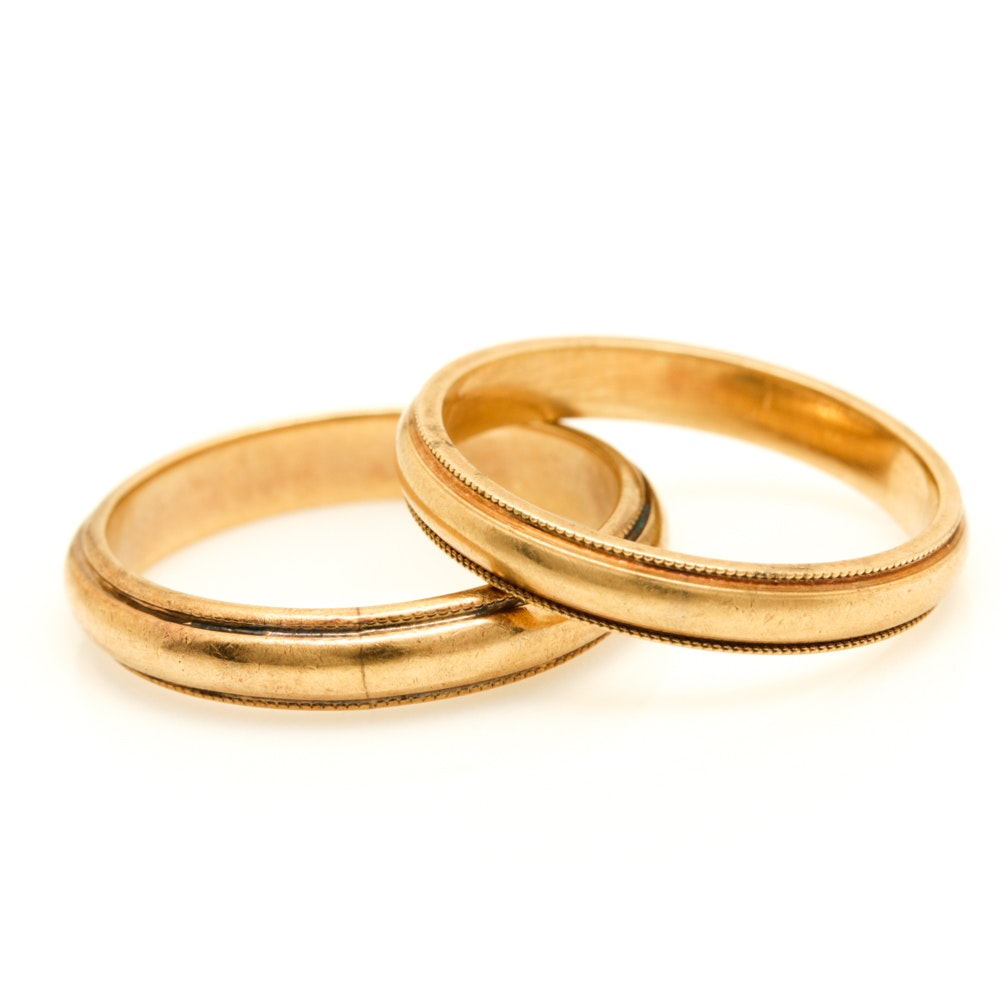 14K Yellow Gold Bands