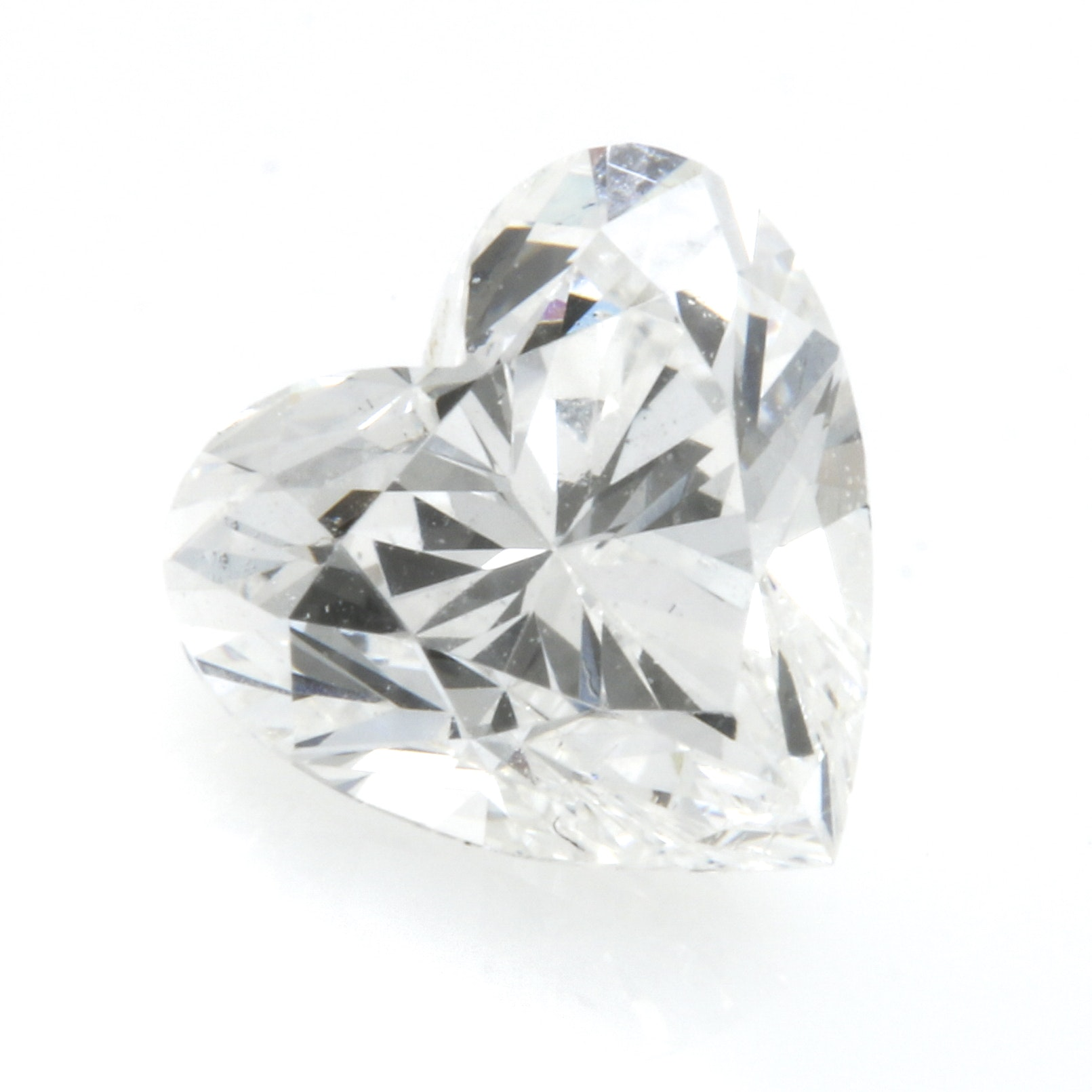 Loose Heart Faceted Diamond