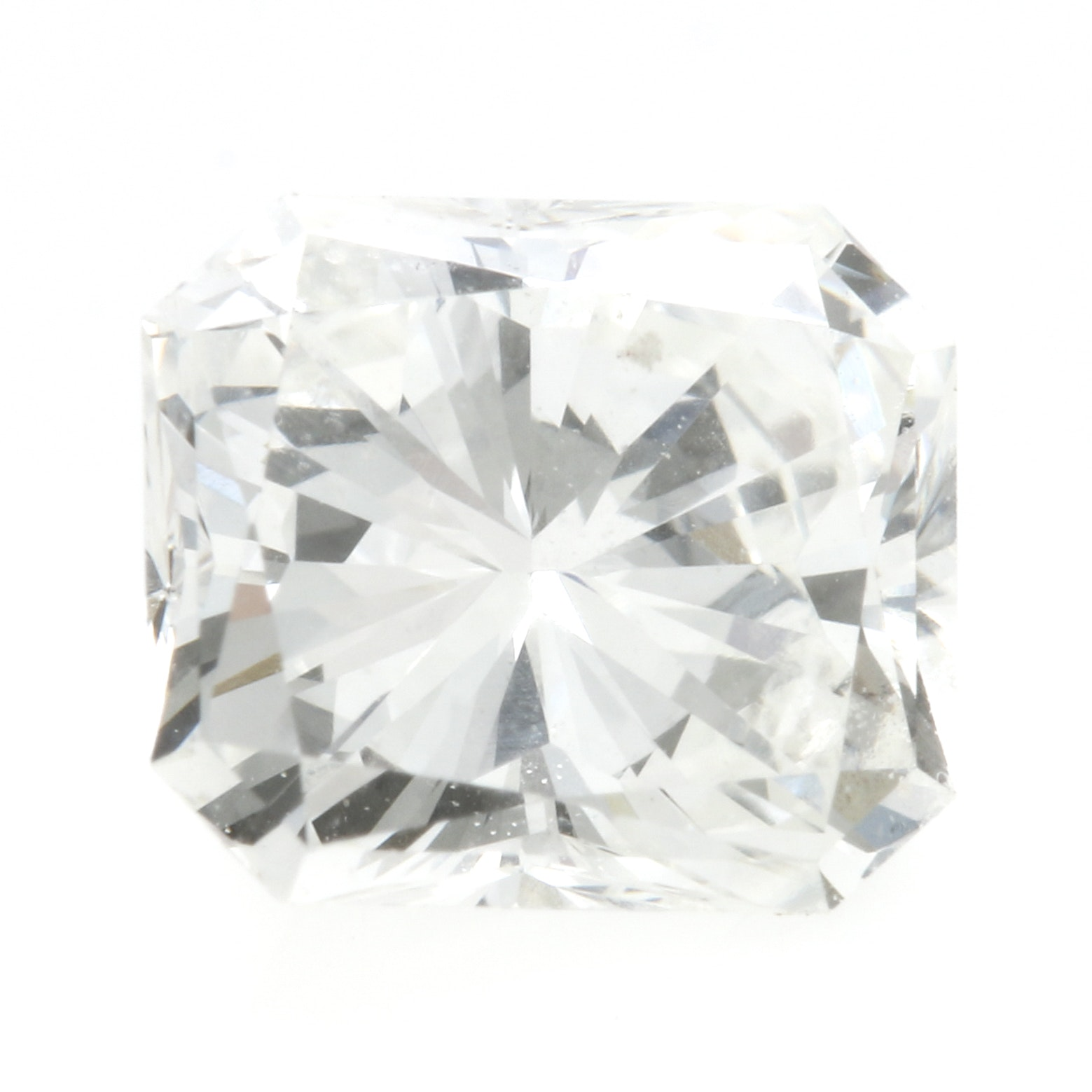 Loose Radiant Faceted 0.44 CT Diamond