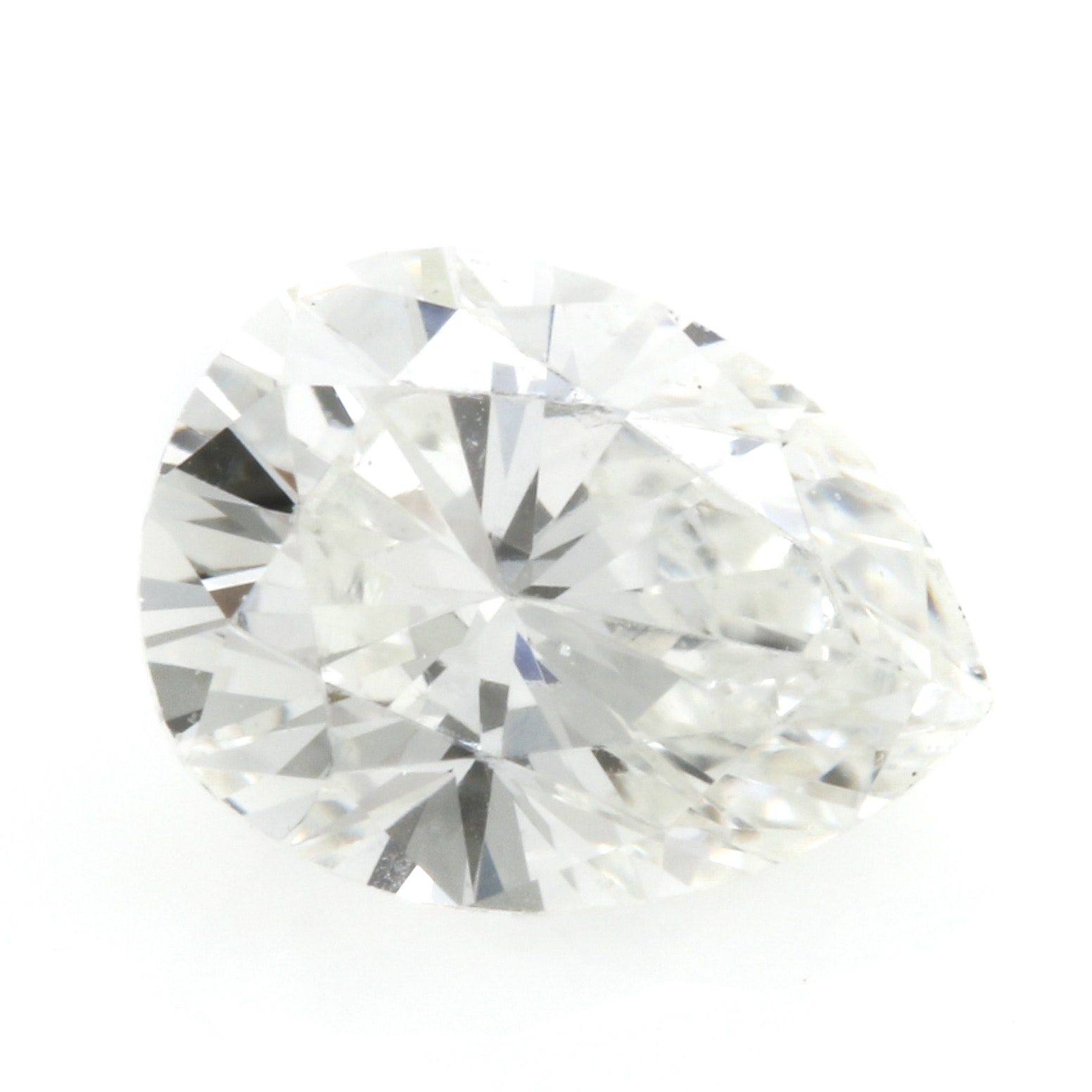 Loose Pear Faceted 0.30 CTW Diamond