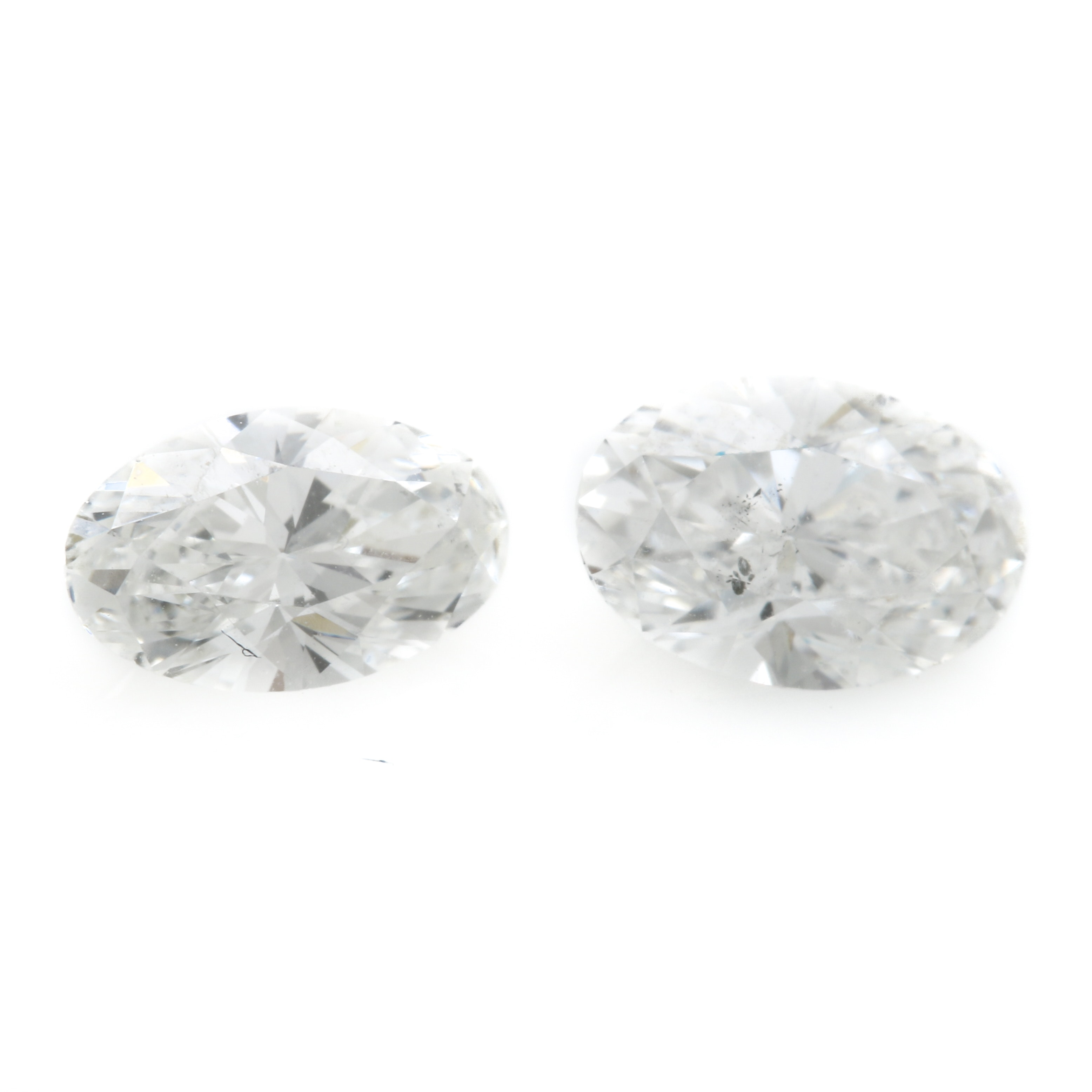 Oval Brilliant Faceted Loose Diamonds