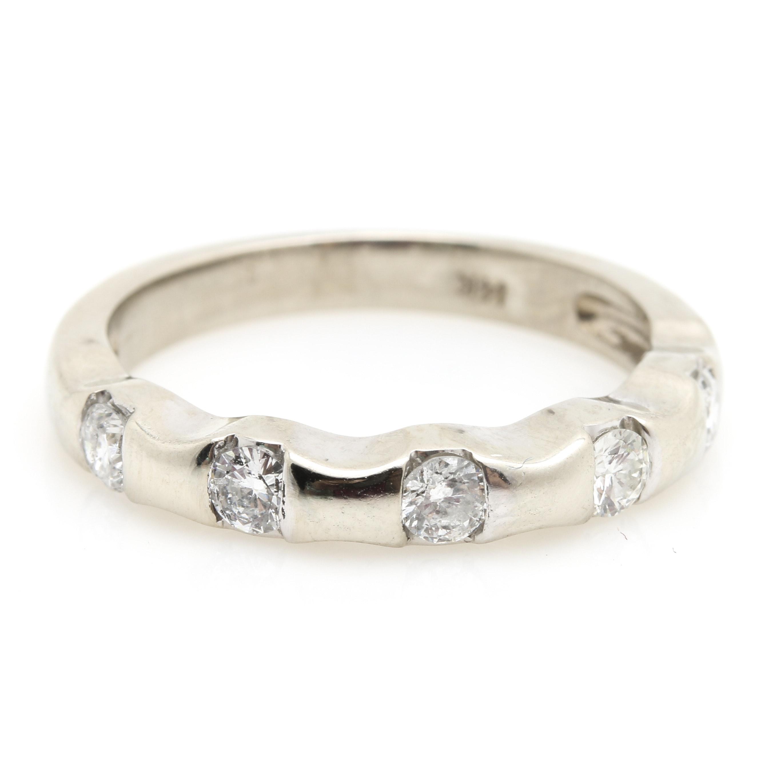 14K White Gold 0.45 CTW Diamond Ring