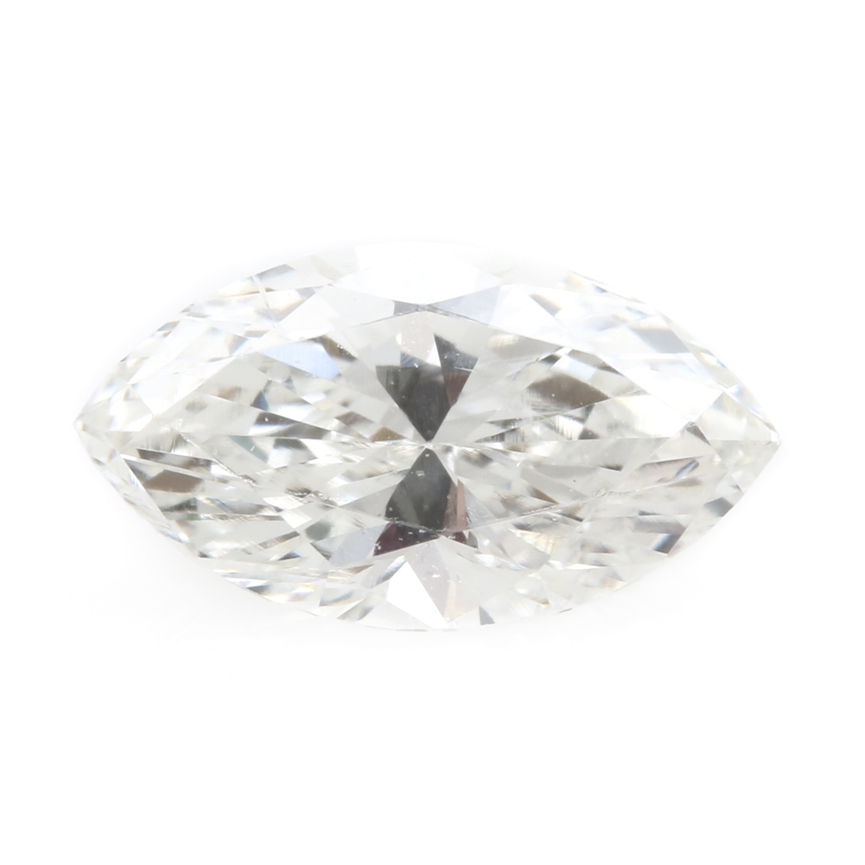 Loose Marquise Faceted  0.55 CT Diamond
