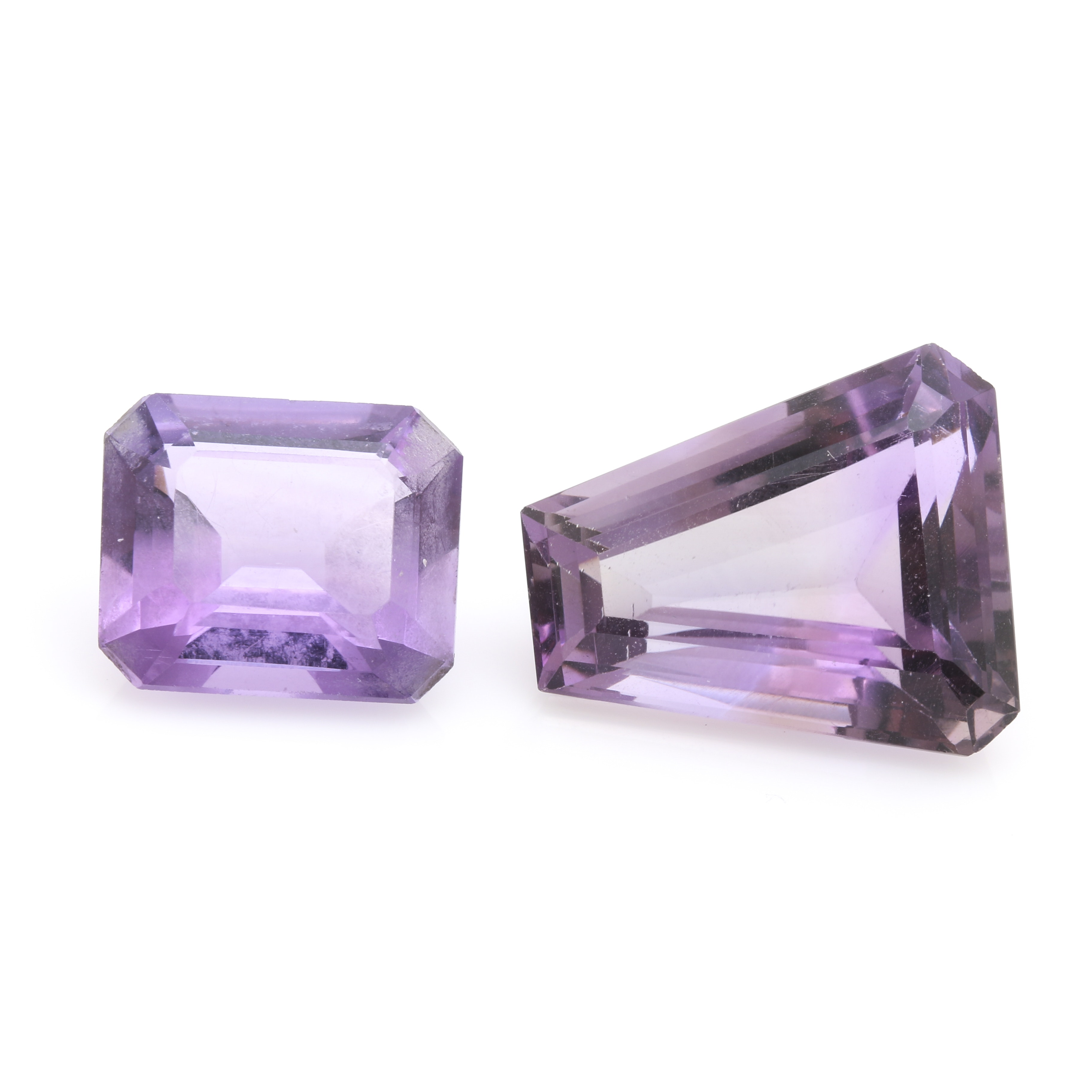 Pair of 24.63 CTW Amethyst Loose Gemstones