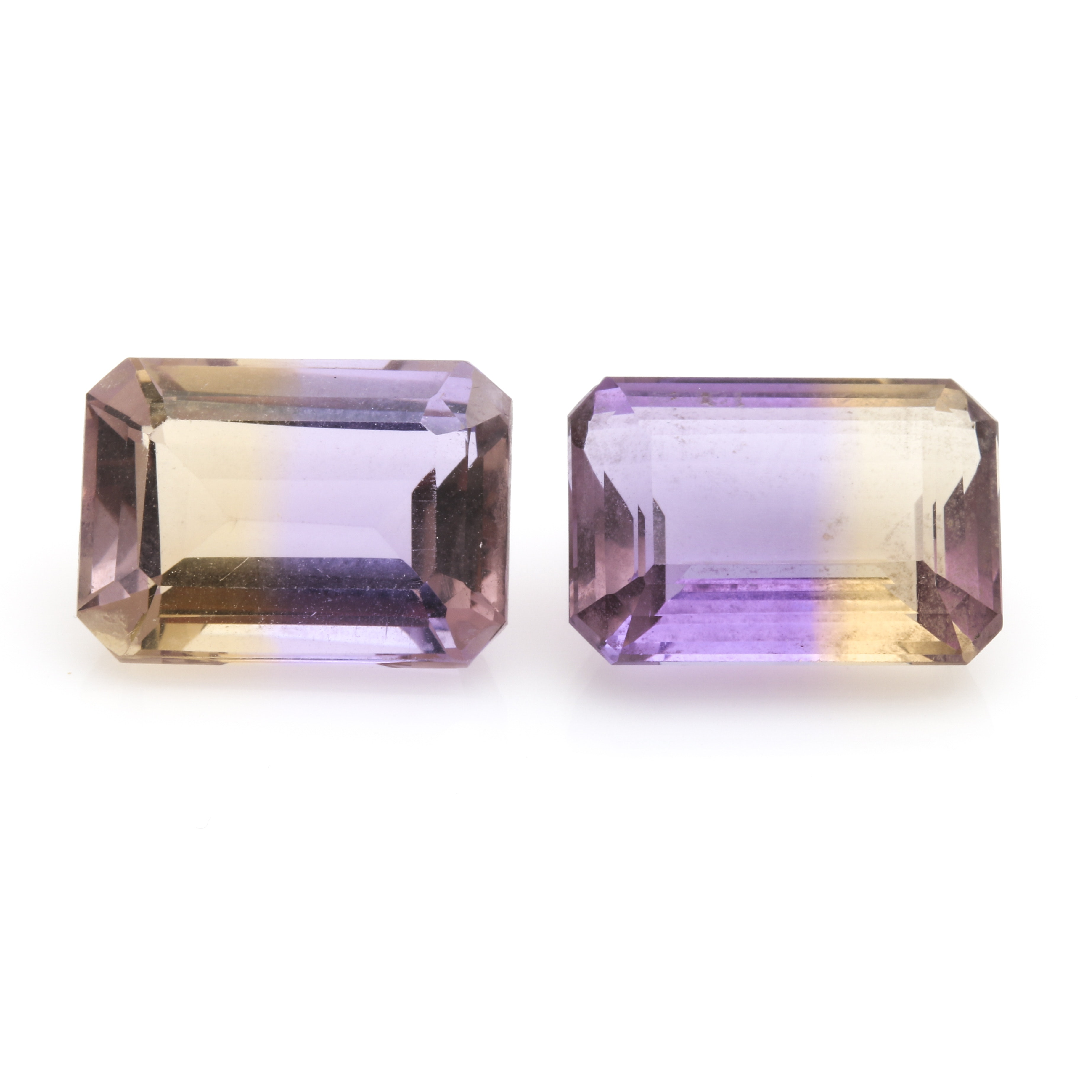 Pair of 14.94 CTW Ametrine Loose Gemstones