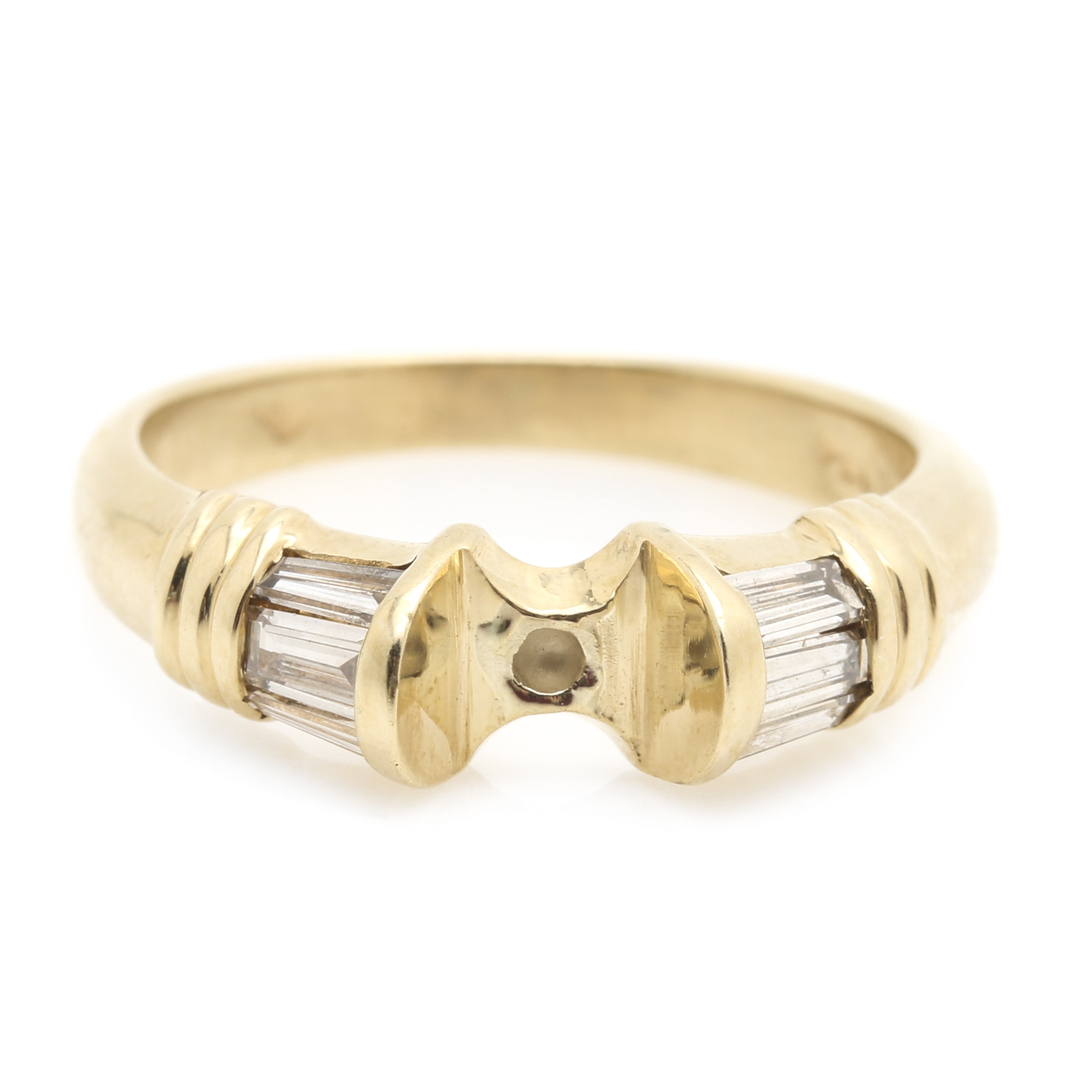 14K Yellow Gold Diamond Ring Mount
