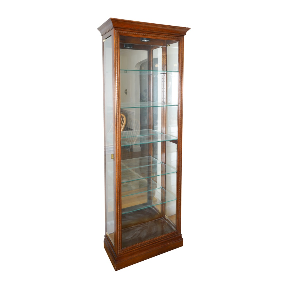 Oak Curio Cabinet by Howard Miller