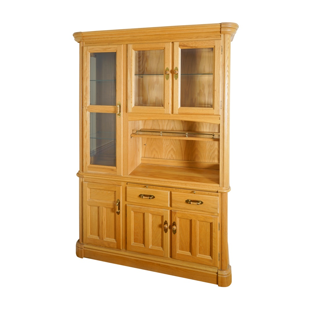 Oak Display Cabinet by Richardson Brothers