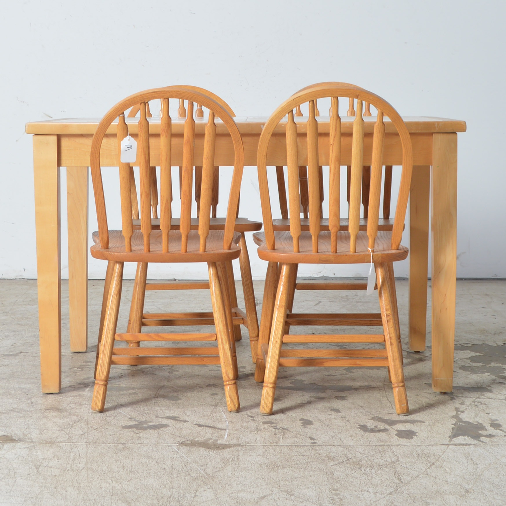 Tile Top Dining Table and Chairs