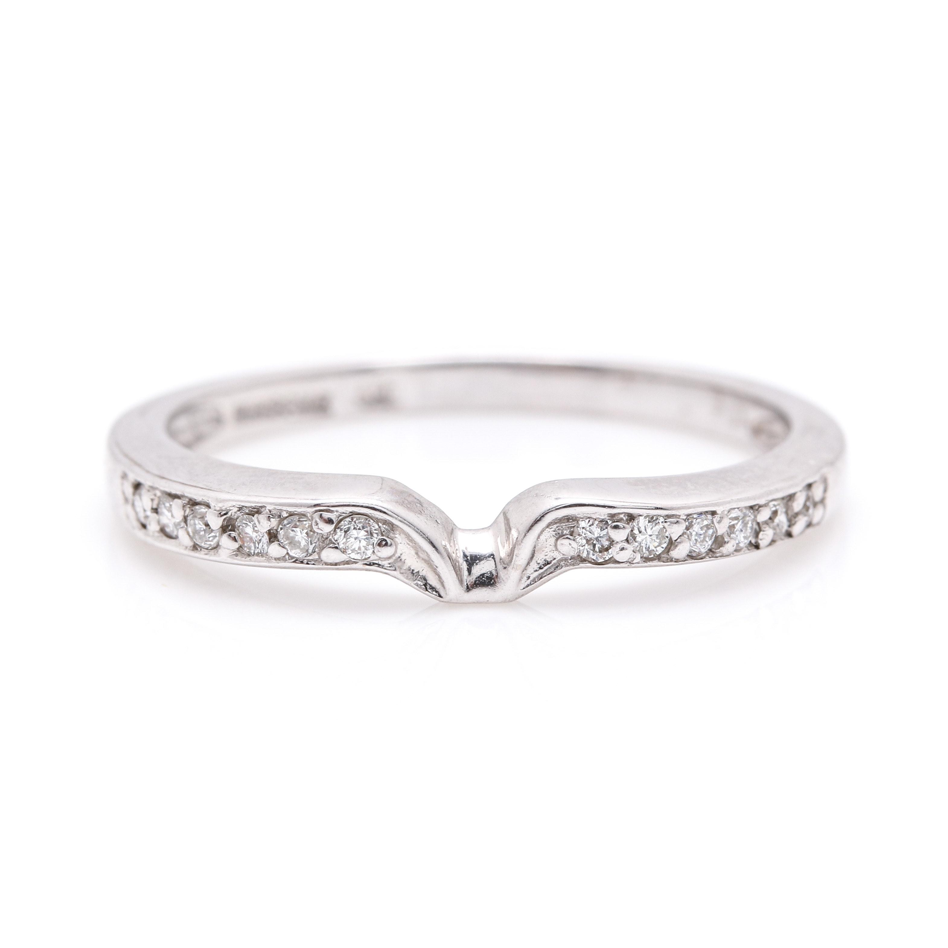 14K White Gold Winsome 0.12 CTW Diamond Enhancer RIng