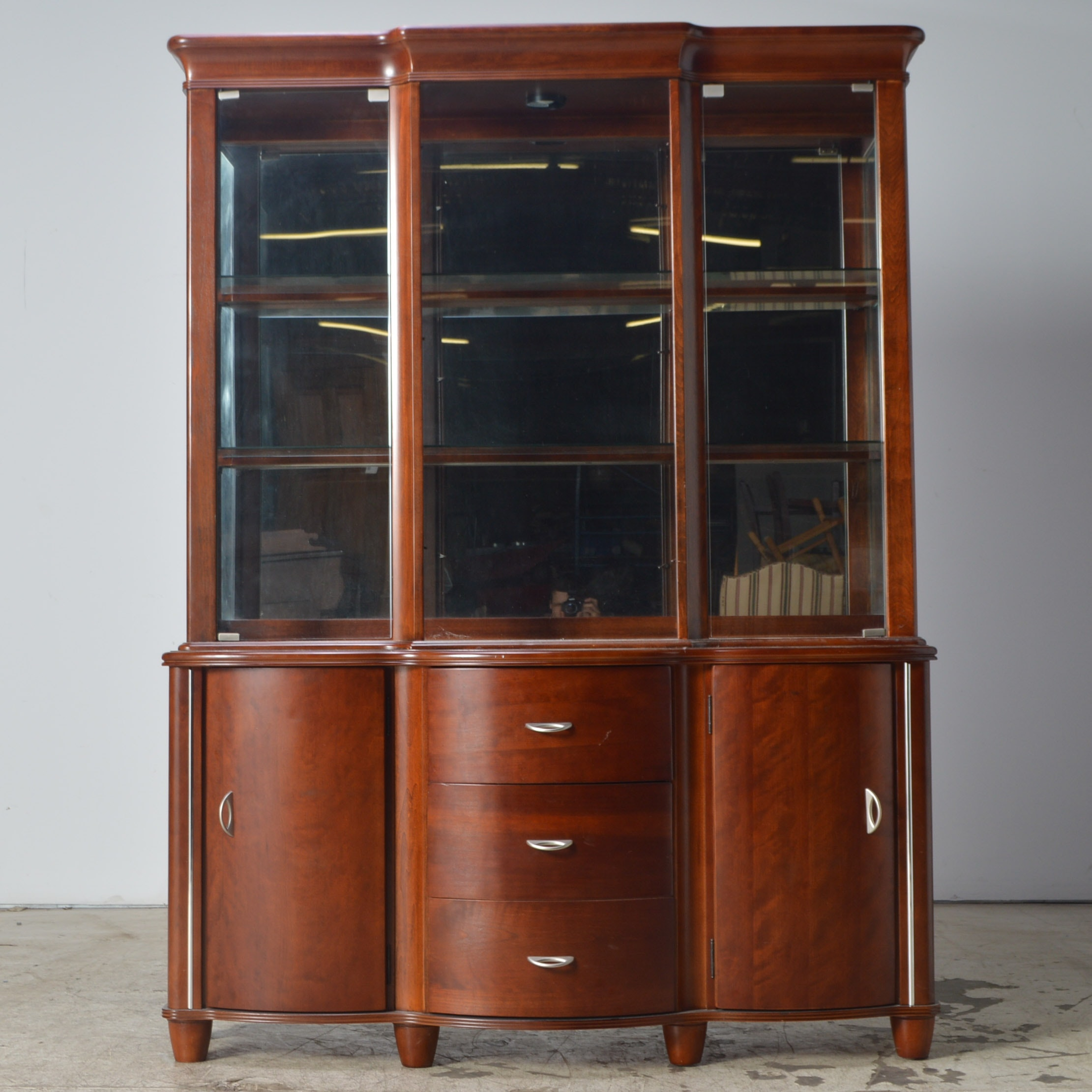 Mixed Woods Contemporary China Cabinet