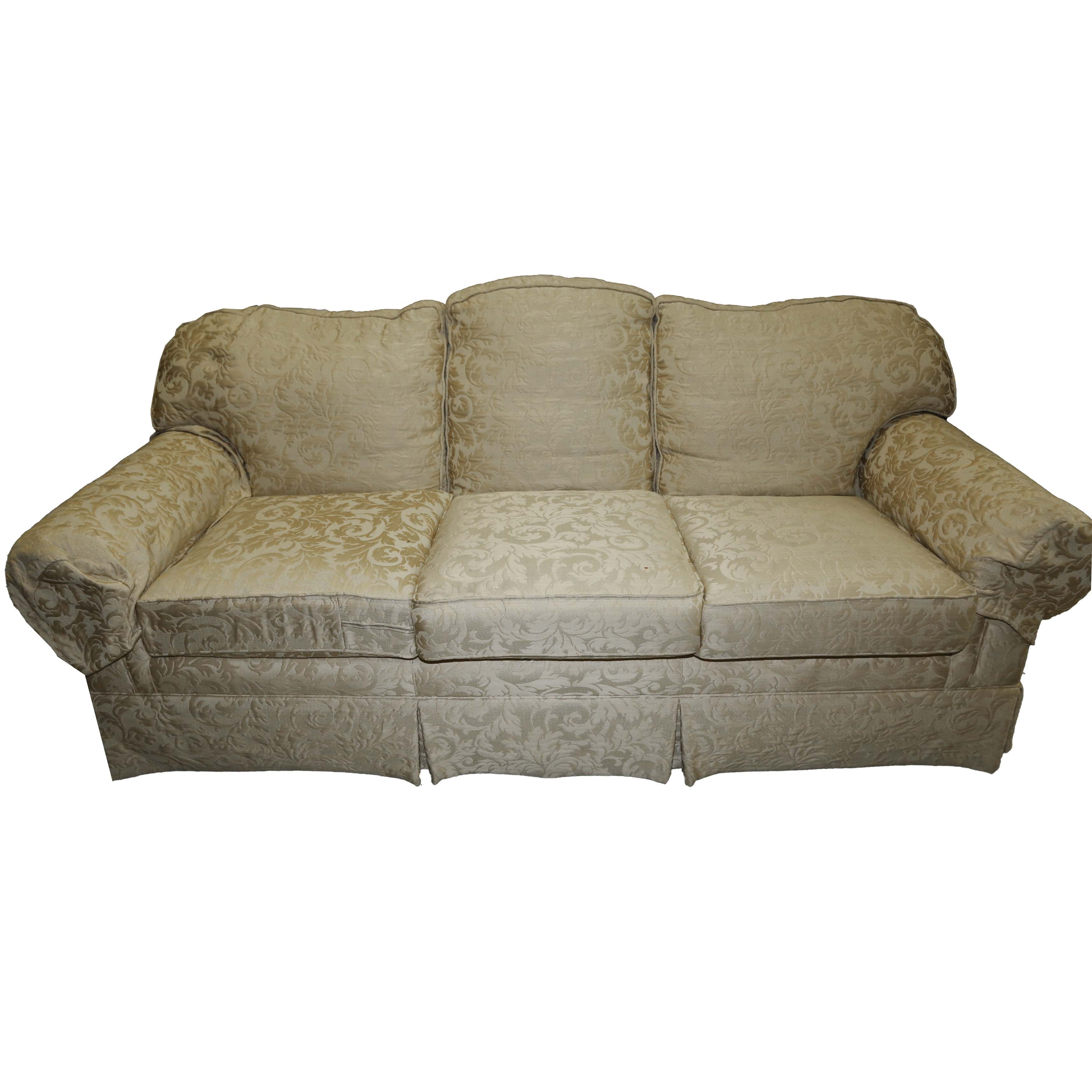 Damask Upholstered Sofa by Taylor King