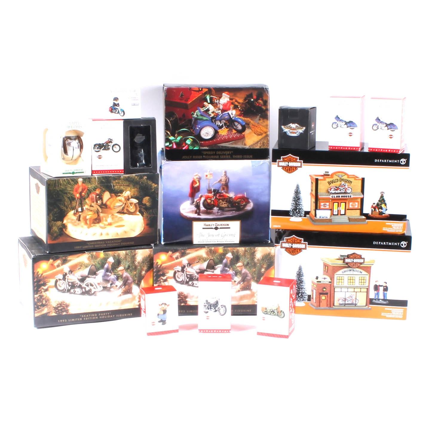 Harley-Davidson Christmas Theme Collectible Decor