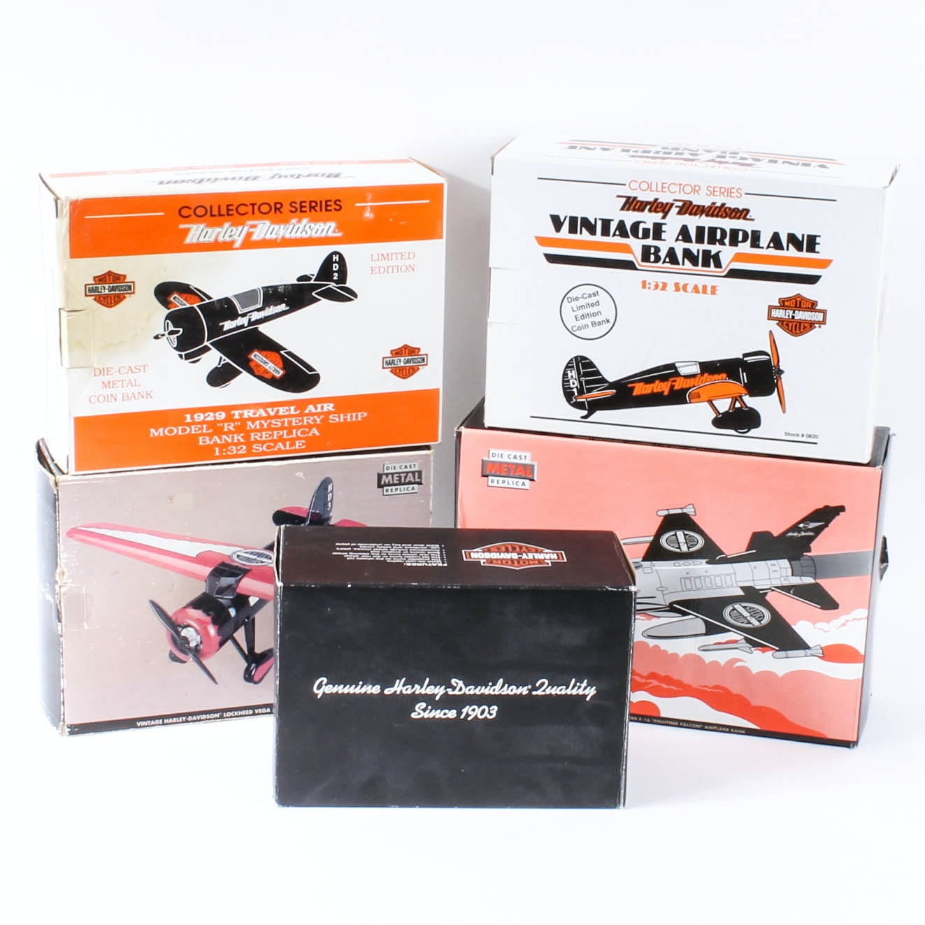 Harley-Davidson Die-Cast Replica Airplane Banks