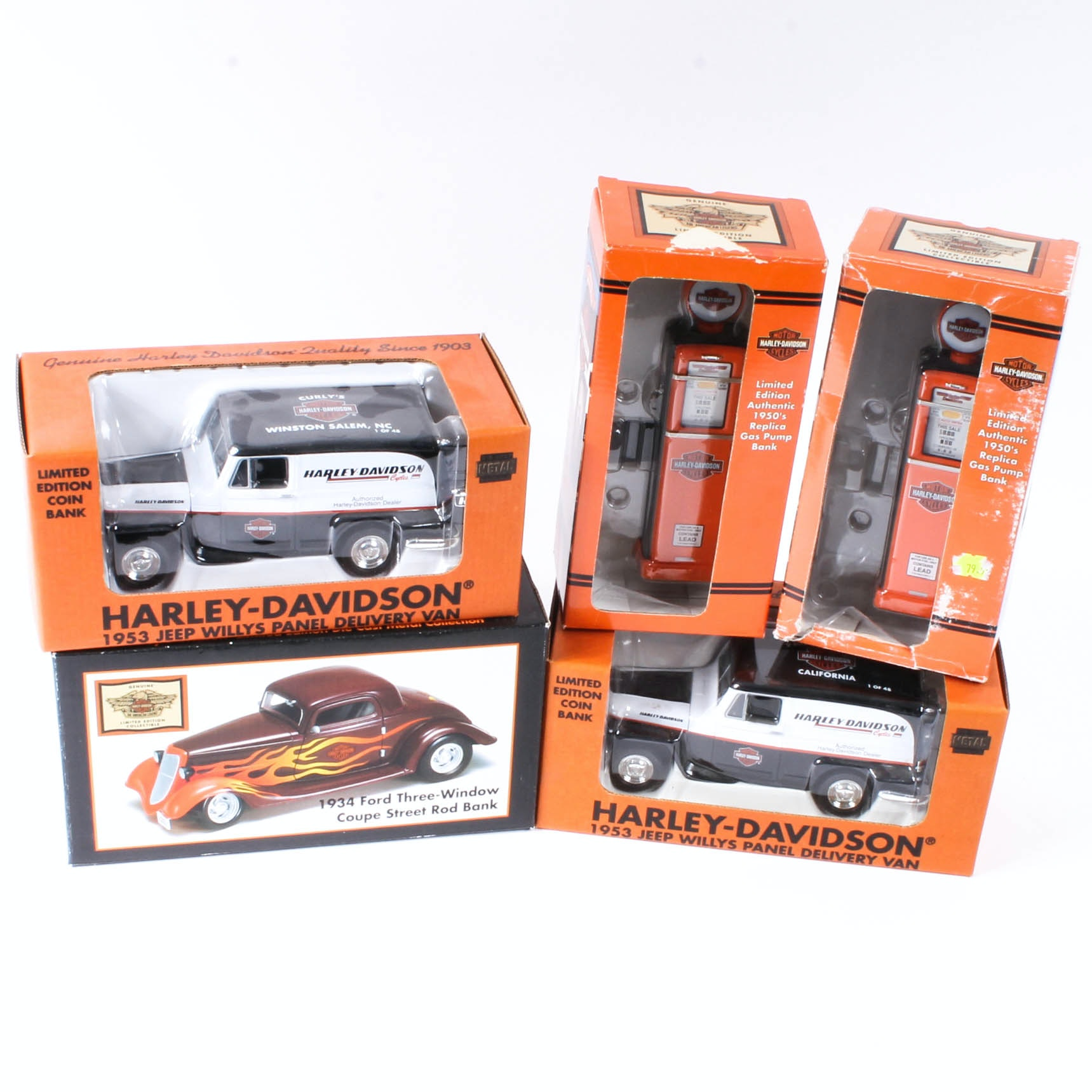 Harley-Davidson Branded Die-Cast Coin Banks