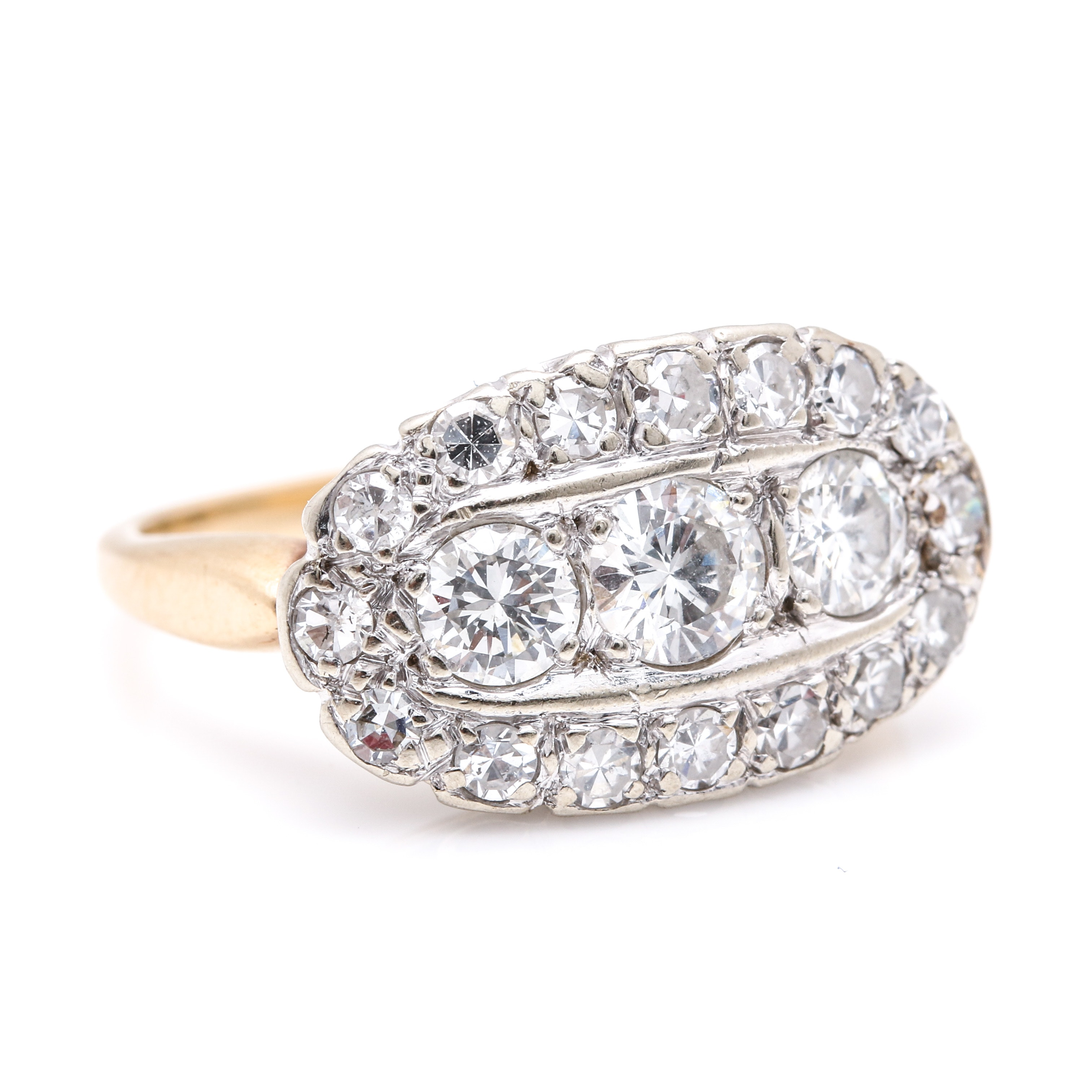 14K Yellow and White Gold 1.25 CTW Diamond Ring