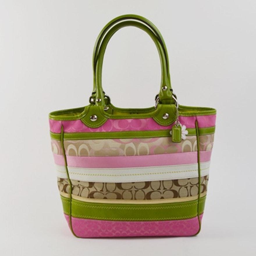 5e57ab8969c Coach Bleecker Signature Tote Handbag   EBTH