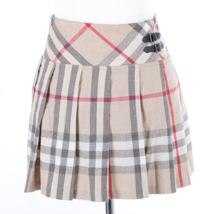 073f33a629 Girls' Burberry Plaid Wool Blend Skirt : EBTH