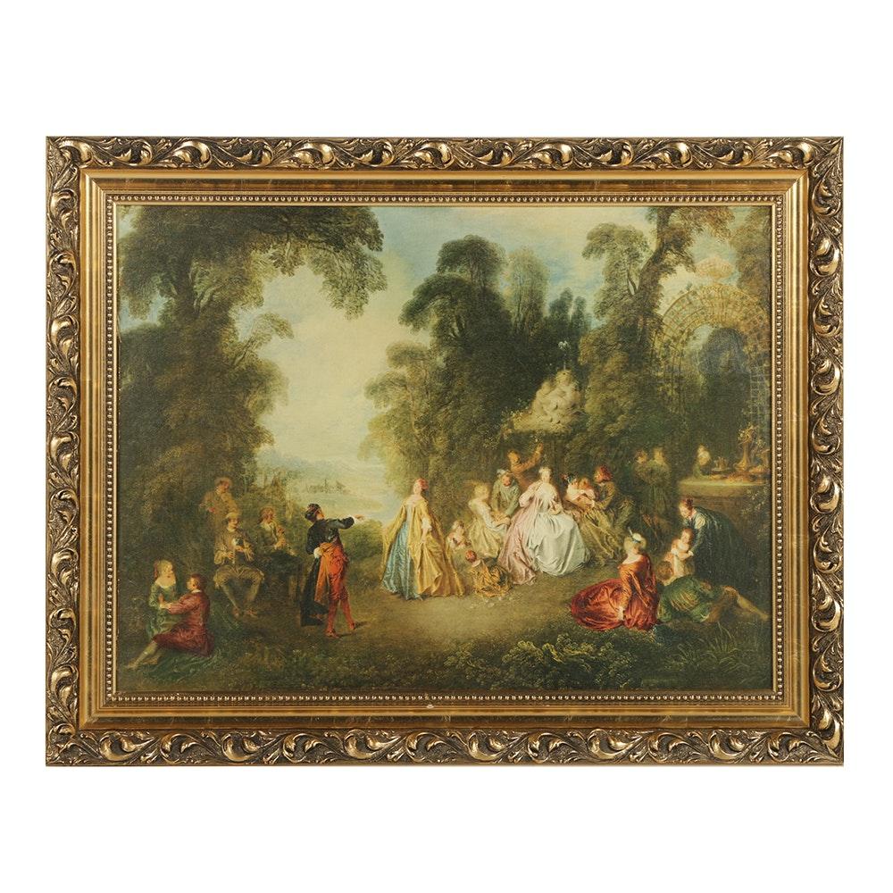 """Framed Giclee of Jean-Baptiste Pater's """"The Dance"""""""