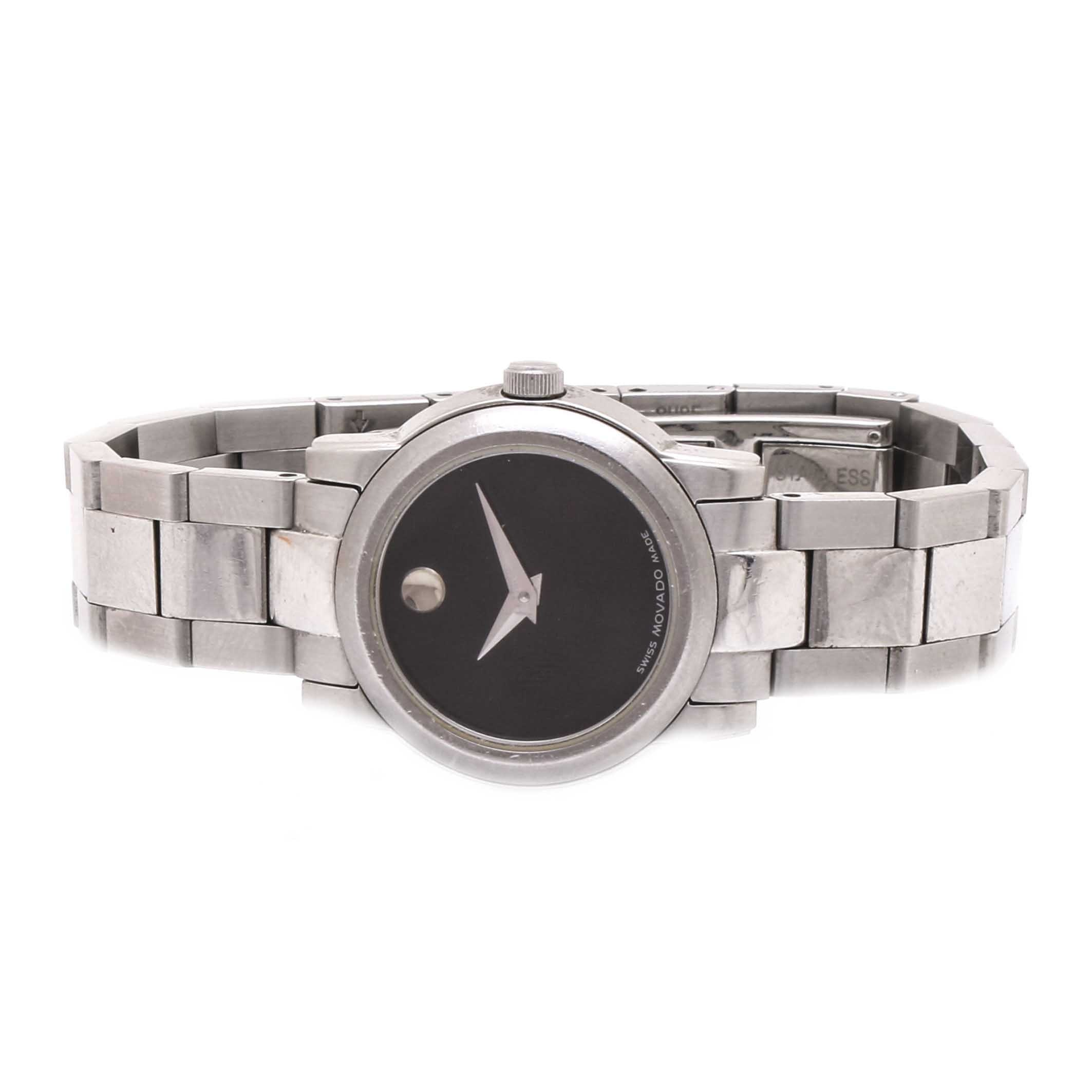Movado Stainless Steel Wristwatch