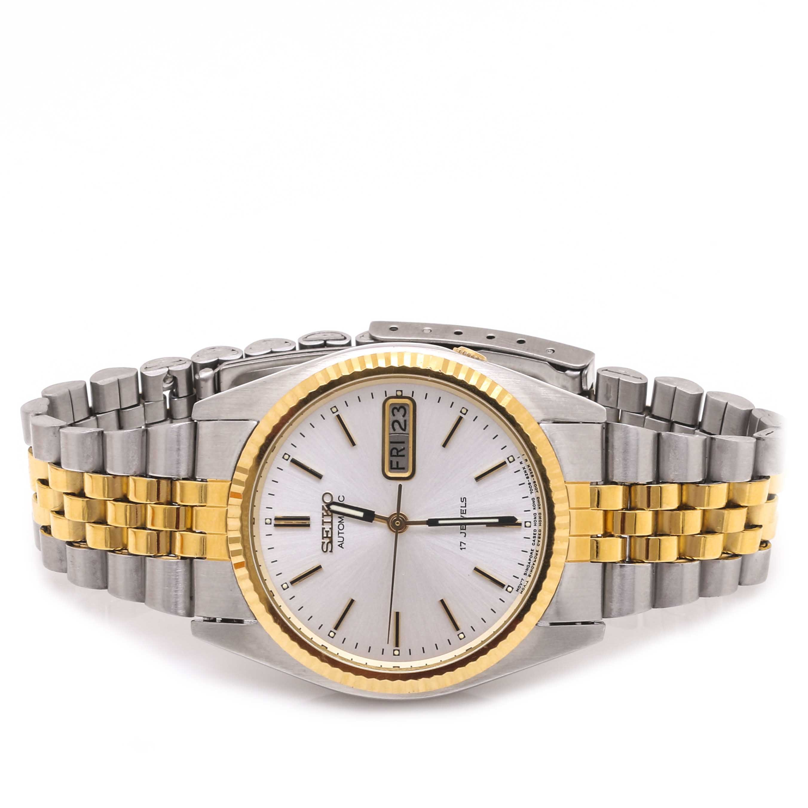 Seiko Silver and Gold Tone Wristwatch