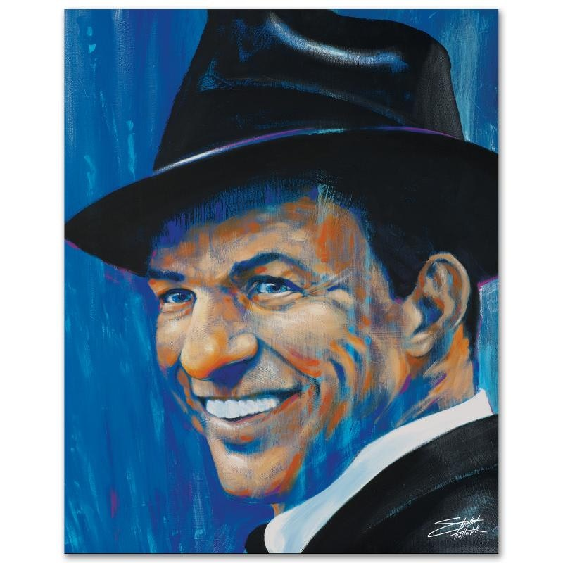 """Stephen Fishwick Limited Edition Giclee """"Old Blue Eyes"""""""