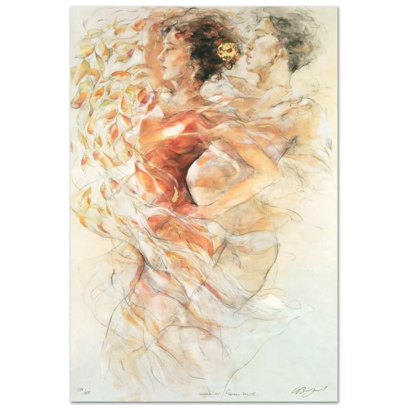 """Gary Benfield Limited Edition Serigraph """"Summer Romance"""""""